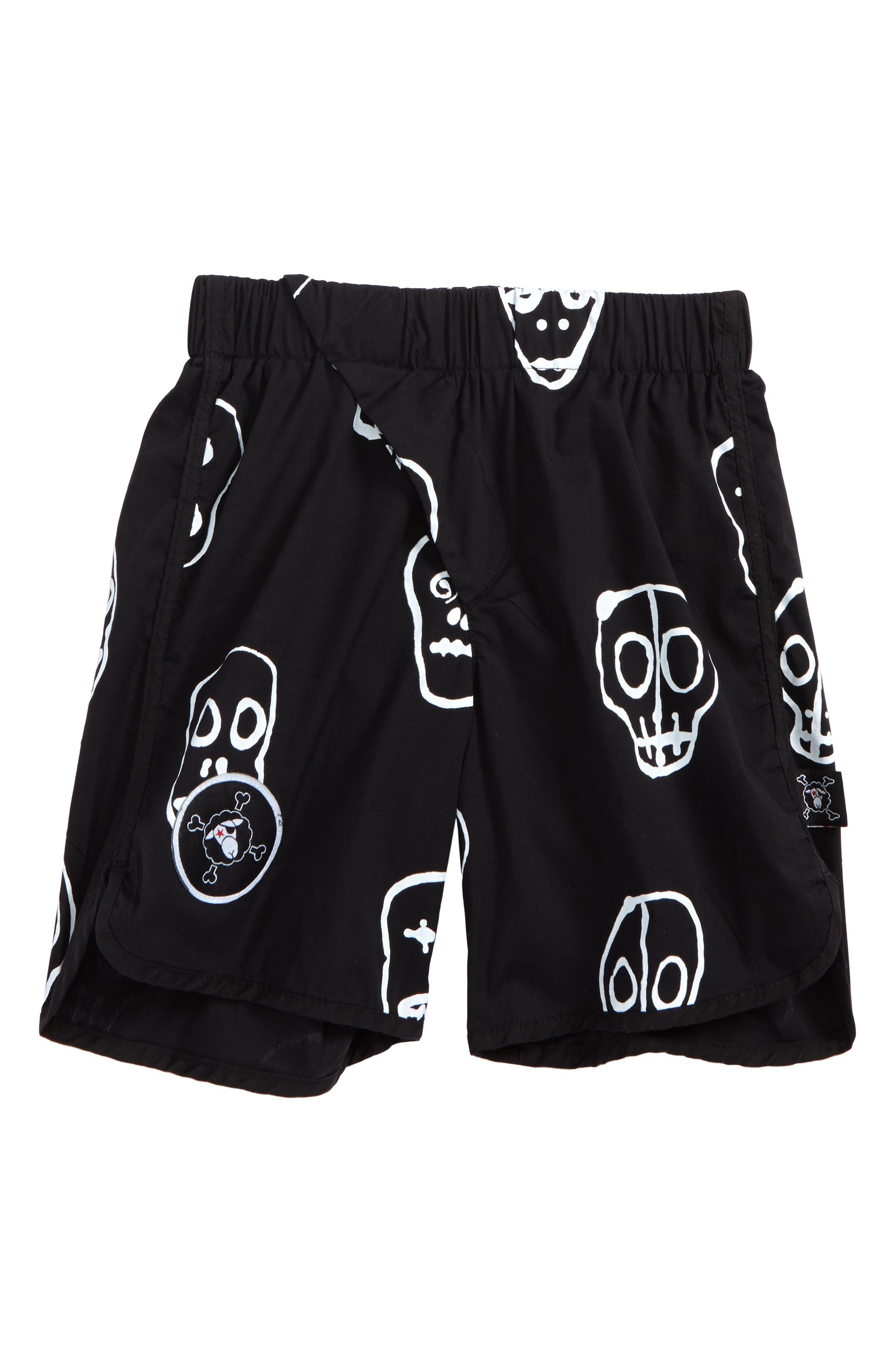 Skull Mask Board Shorts,                             Main thumbnail 1, color,                             001