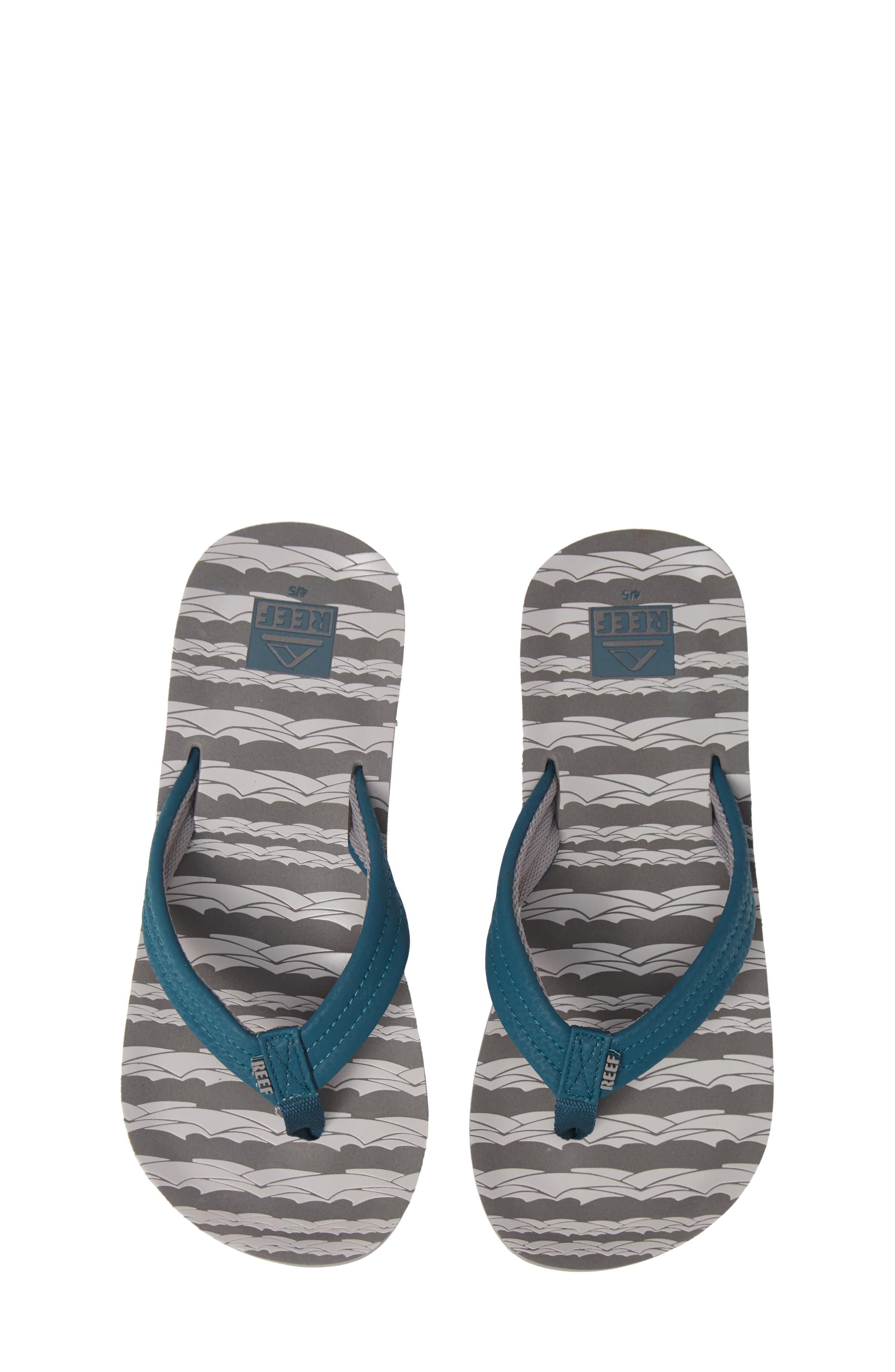 'Ahi' Flip Flop,                         Main,                         color, GREY