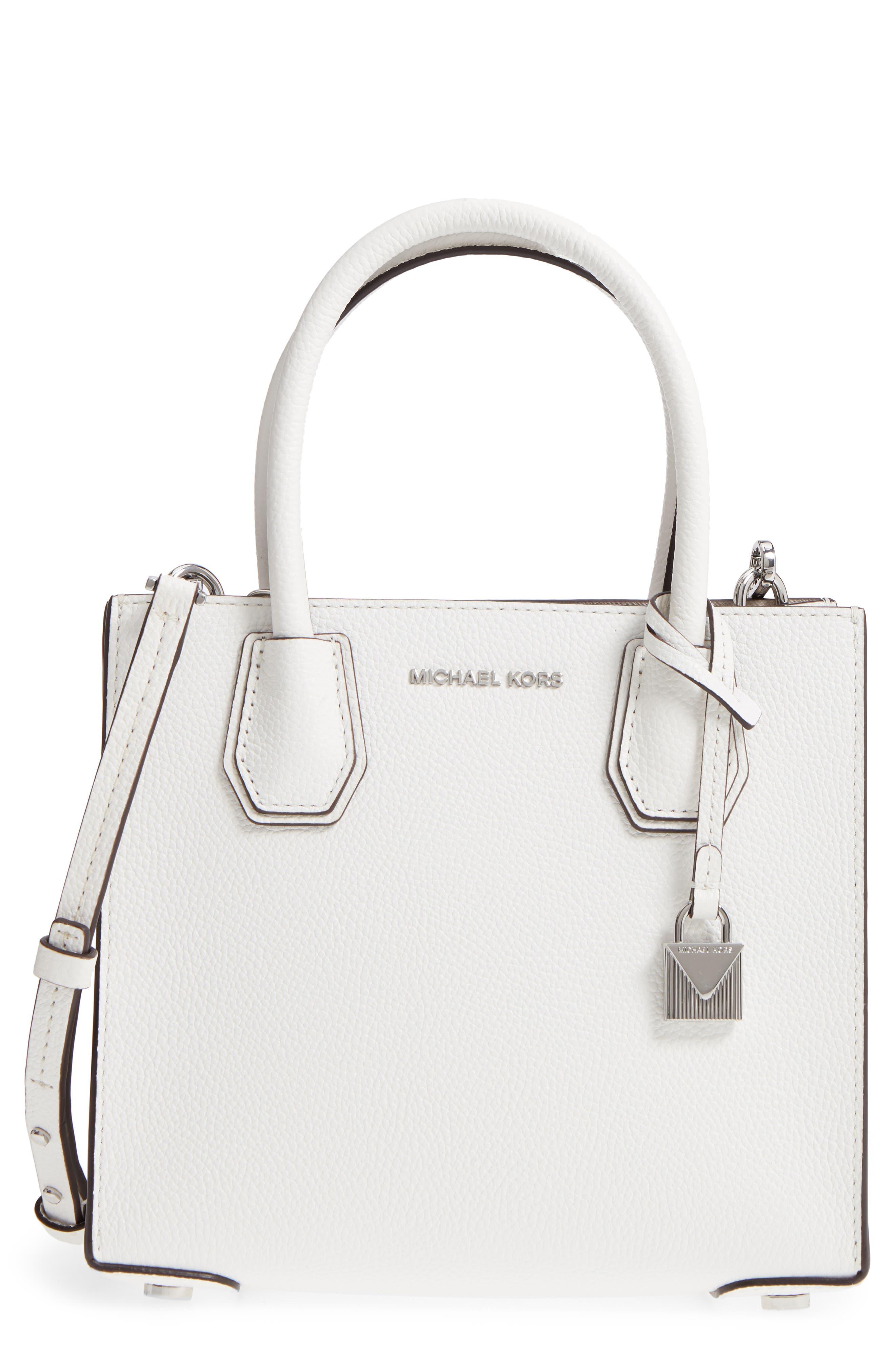 Mercer Leather Crossbody Bag,                             Main thumbnail 1, color,                             WHITE
