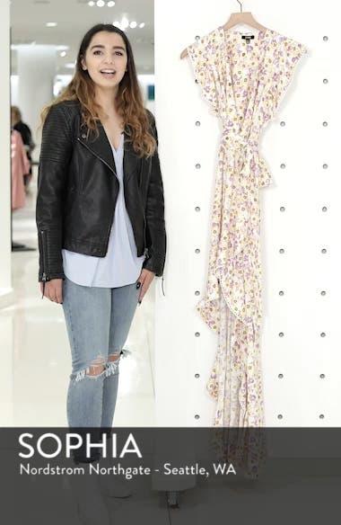 Andrea Ruffle Wrap Dress, sales video thumbnail