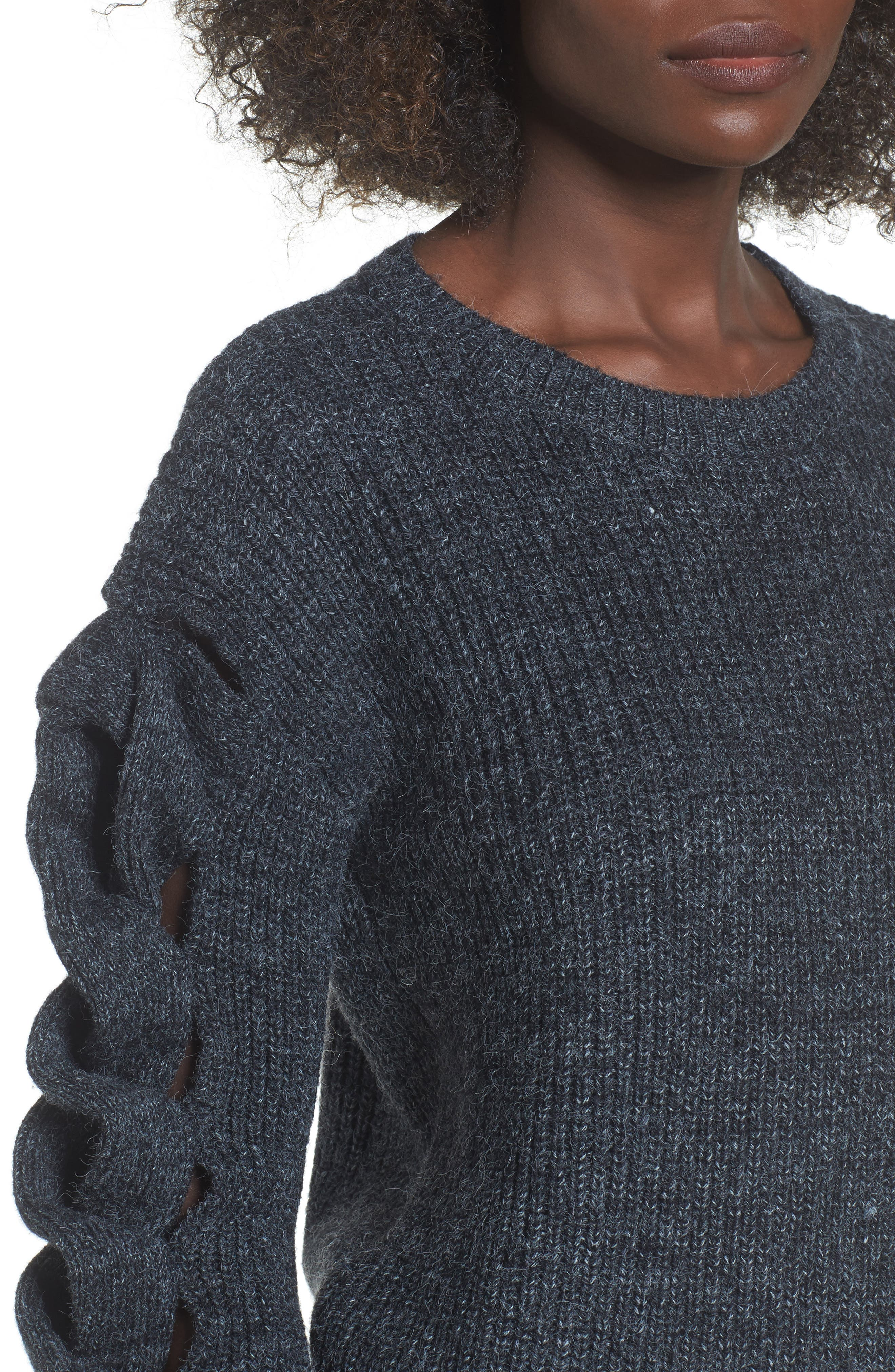 Twist Sleeve Sweater,                             Alternate thumbnail 4, color,                             030