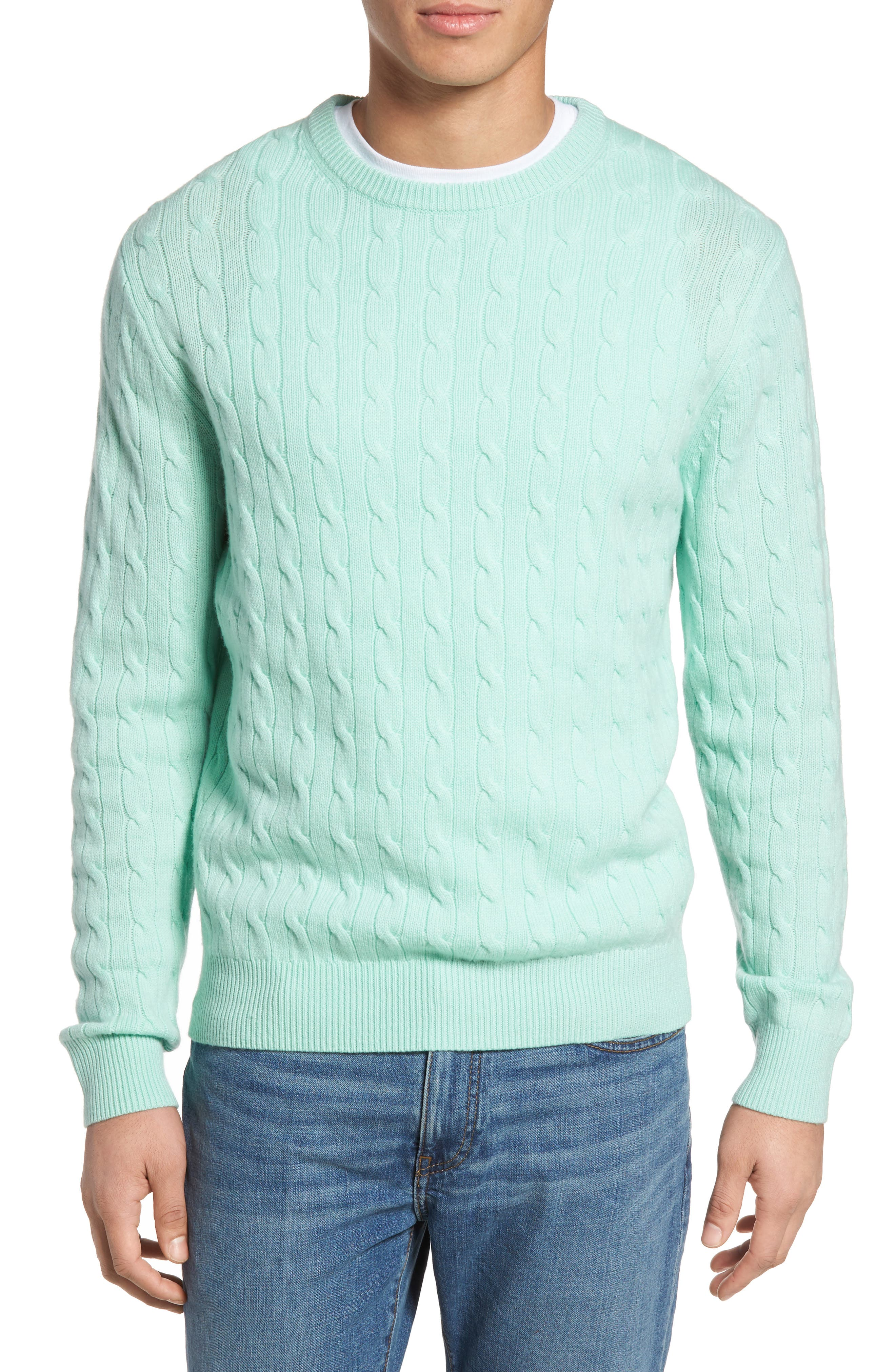 Wool & Cashmere Cable Knit Sweater,                             Main thumbnail 1, color,                             301