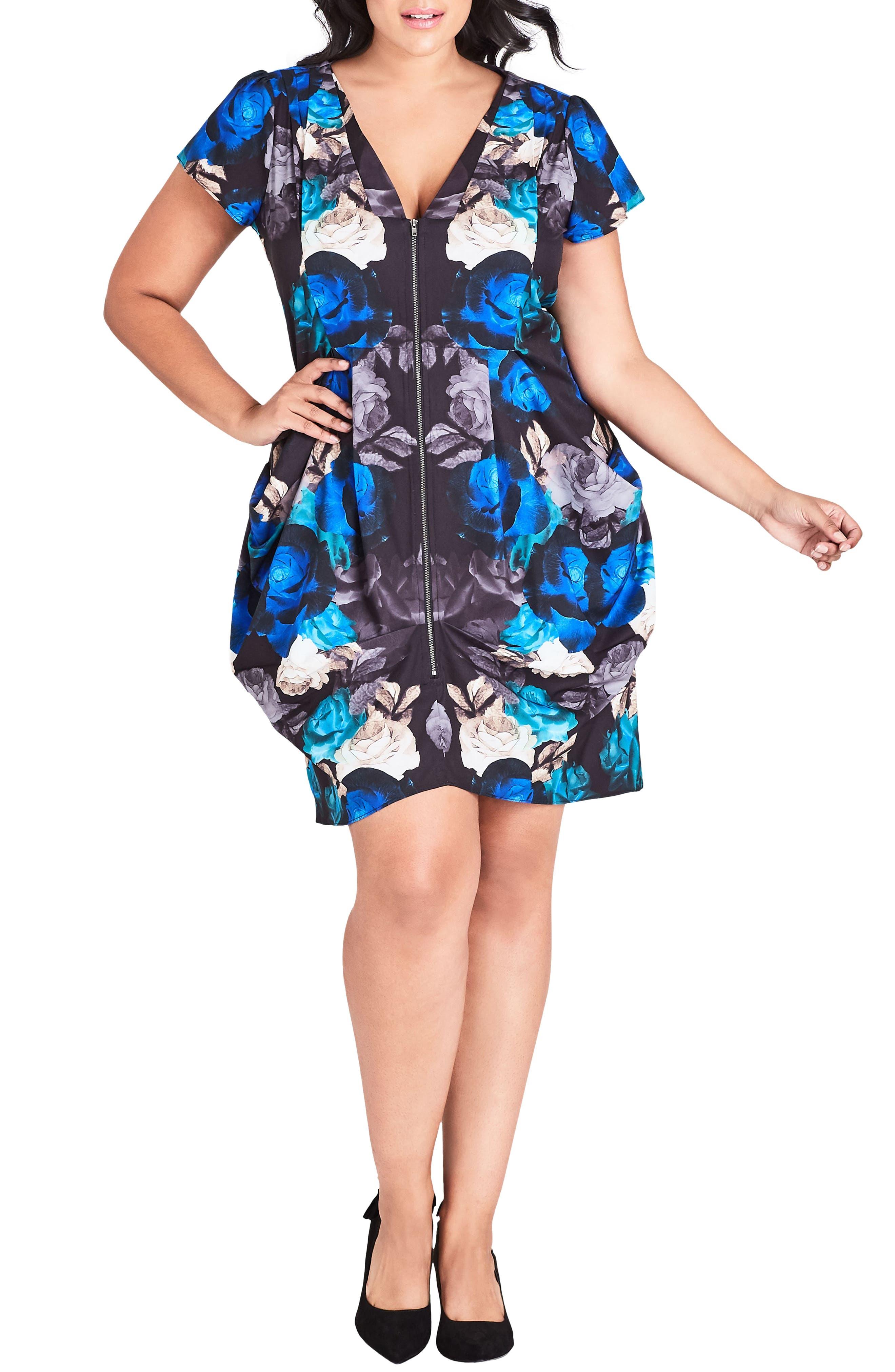 Plus Size City Chic Electric Rose Tunic Dress