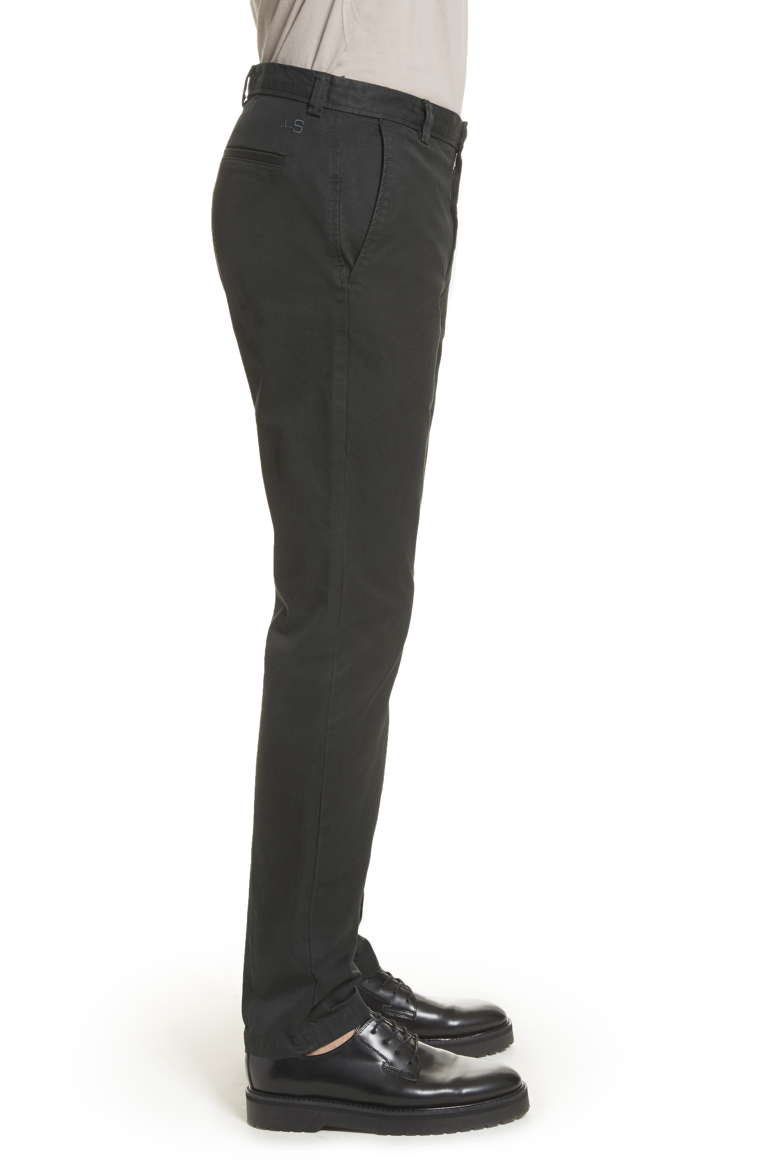 Isher Chinos,                             Alternate thumbnail 3, color,                             COAL BLACK