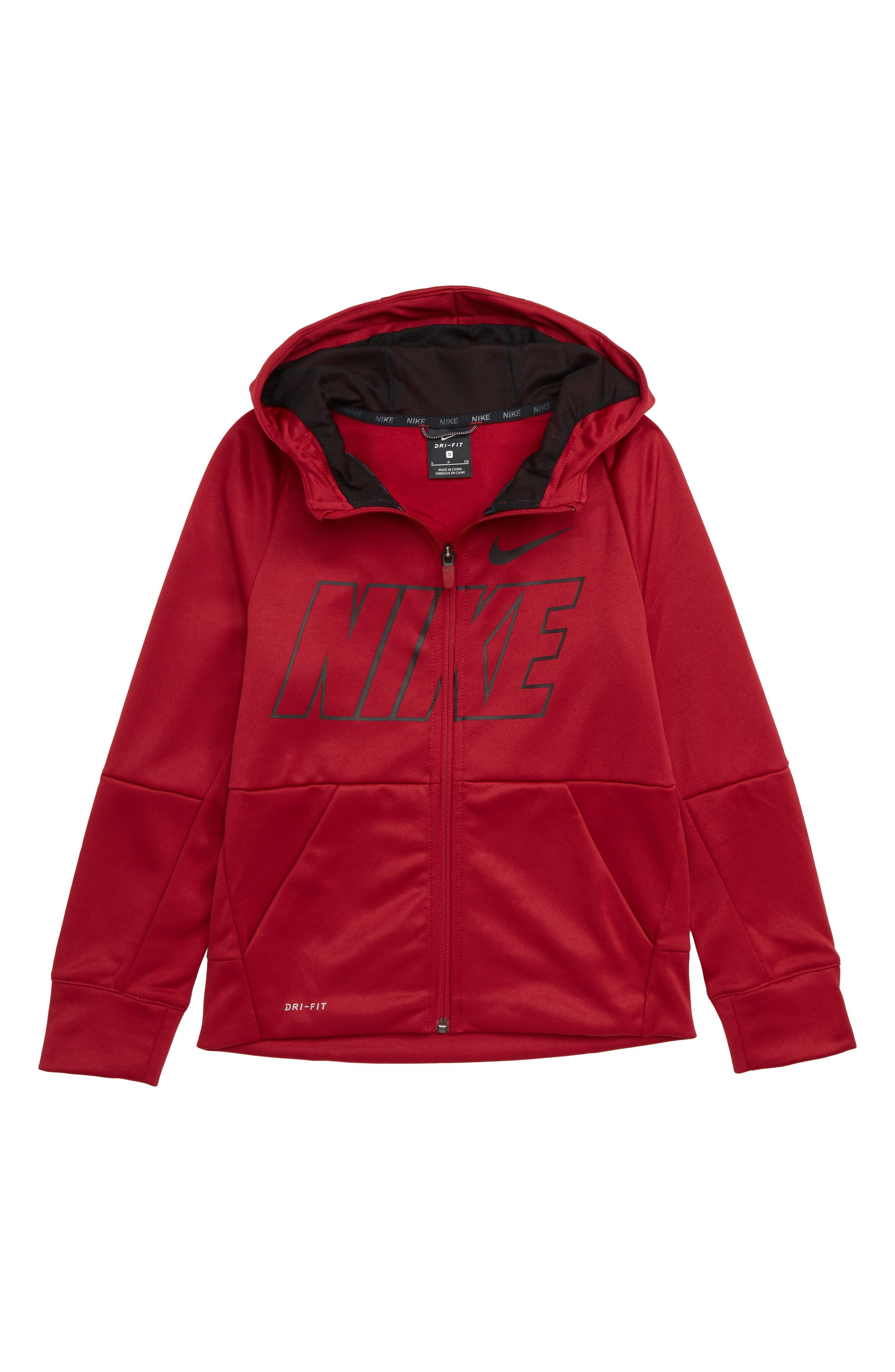 Boys Nike Therma Dry Zip Hoodie Size L (14)  Blue