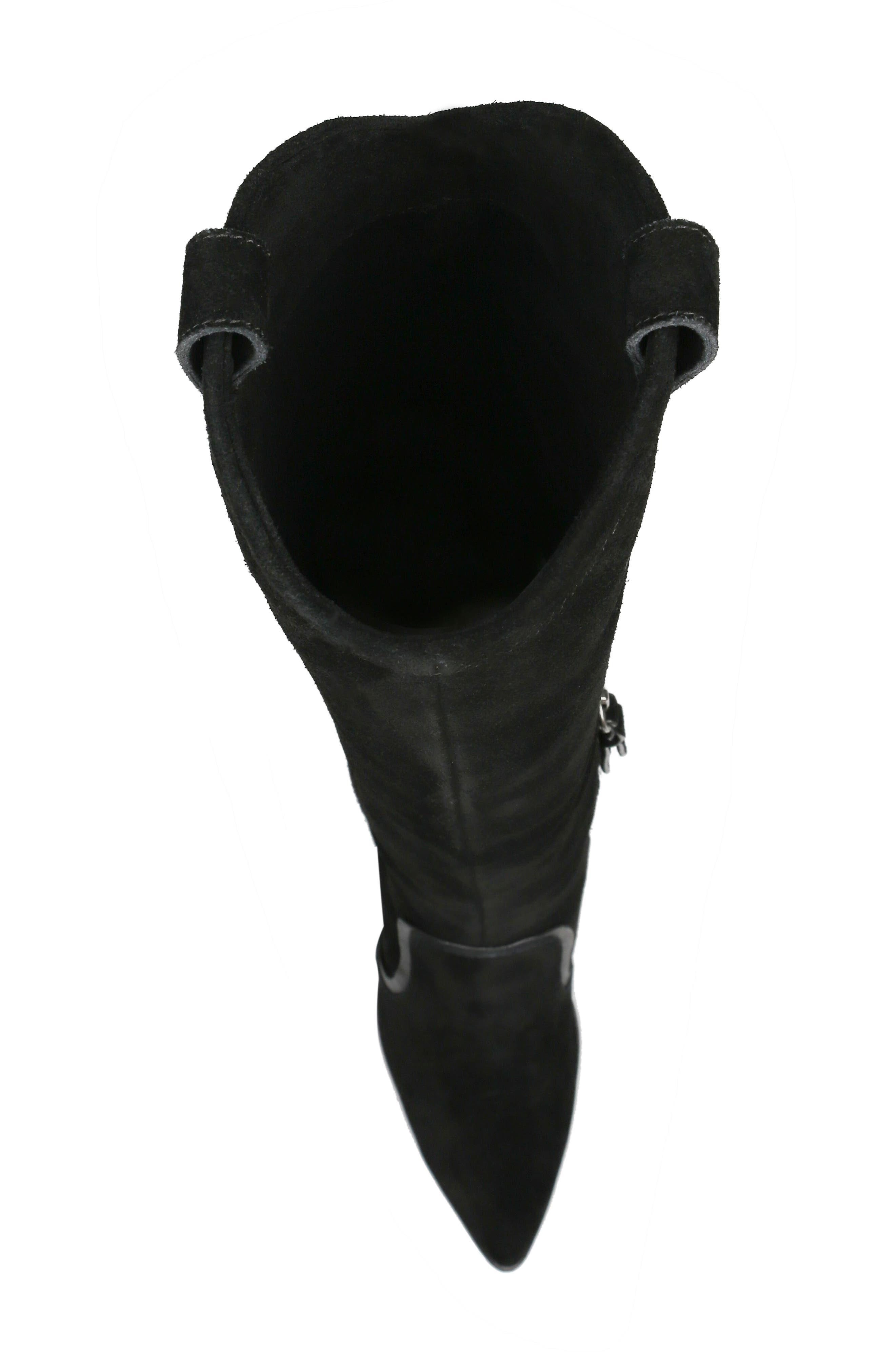 Caren Knee High Boot,                             Alternate thumbnail 5, color,                             BLACK SUEDE