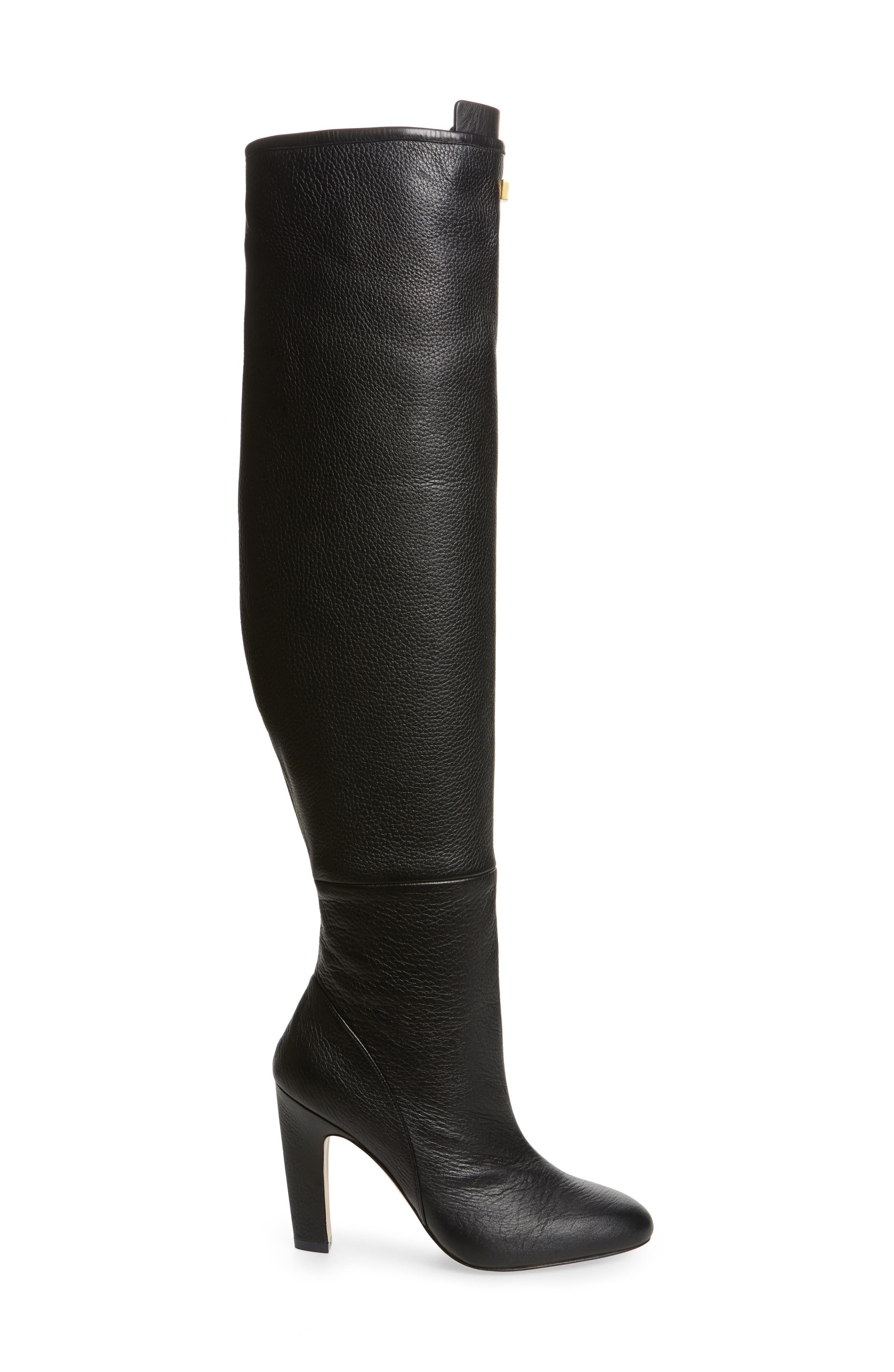 Edie Over the Knee Boot,                             Alternate thumbnail 3, color,                             PITCH BLACK GHENTO