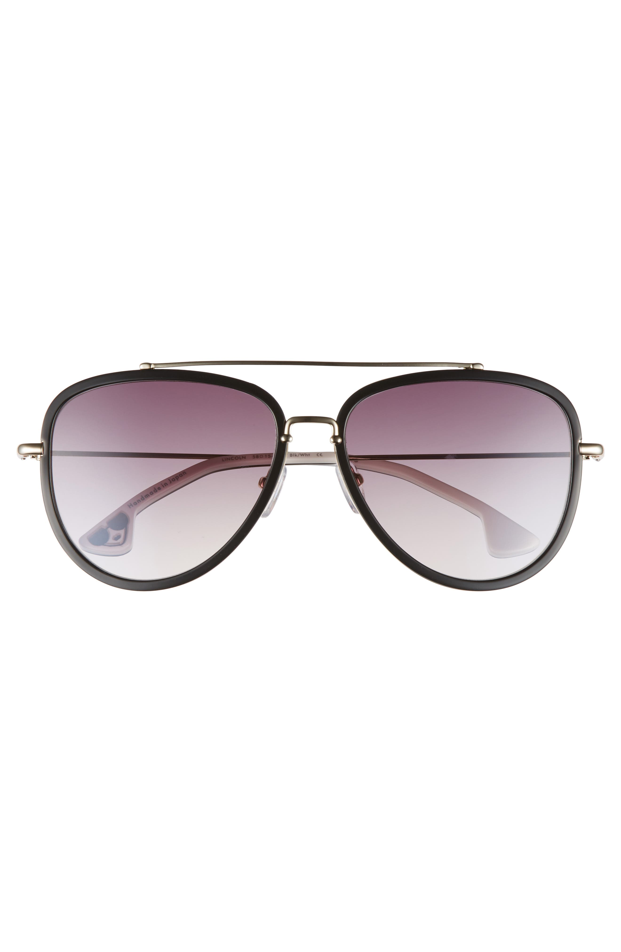 Lincoln 58mm Aviator Sunglasses,                             Alternate thumbnail 9, color,