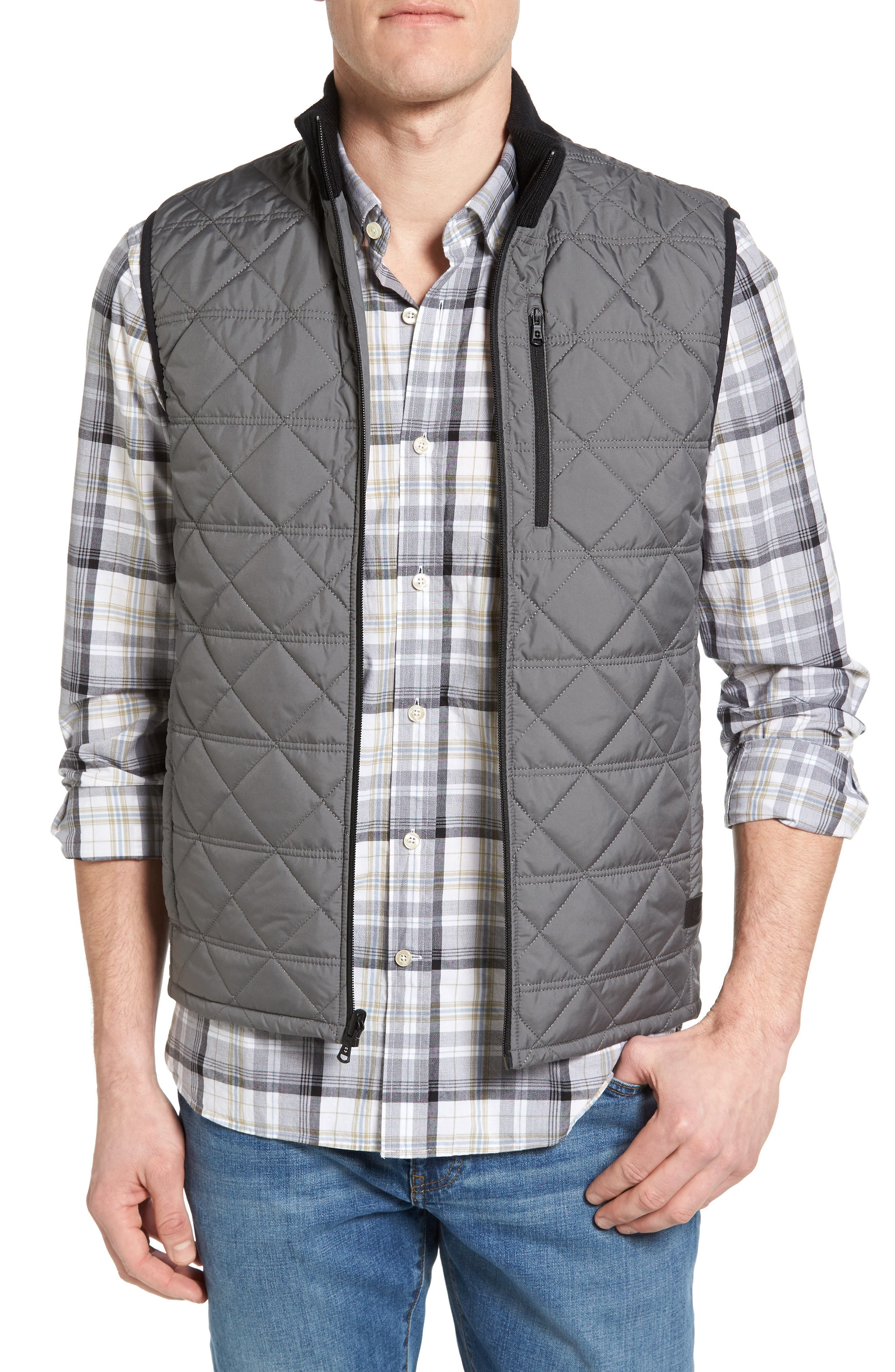 Quilted Vest,                         Main,                         color, 034