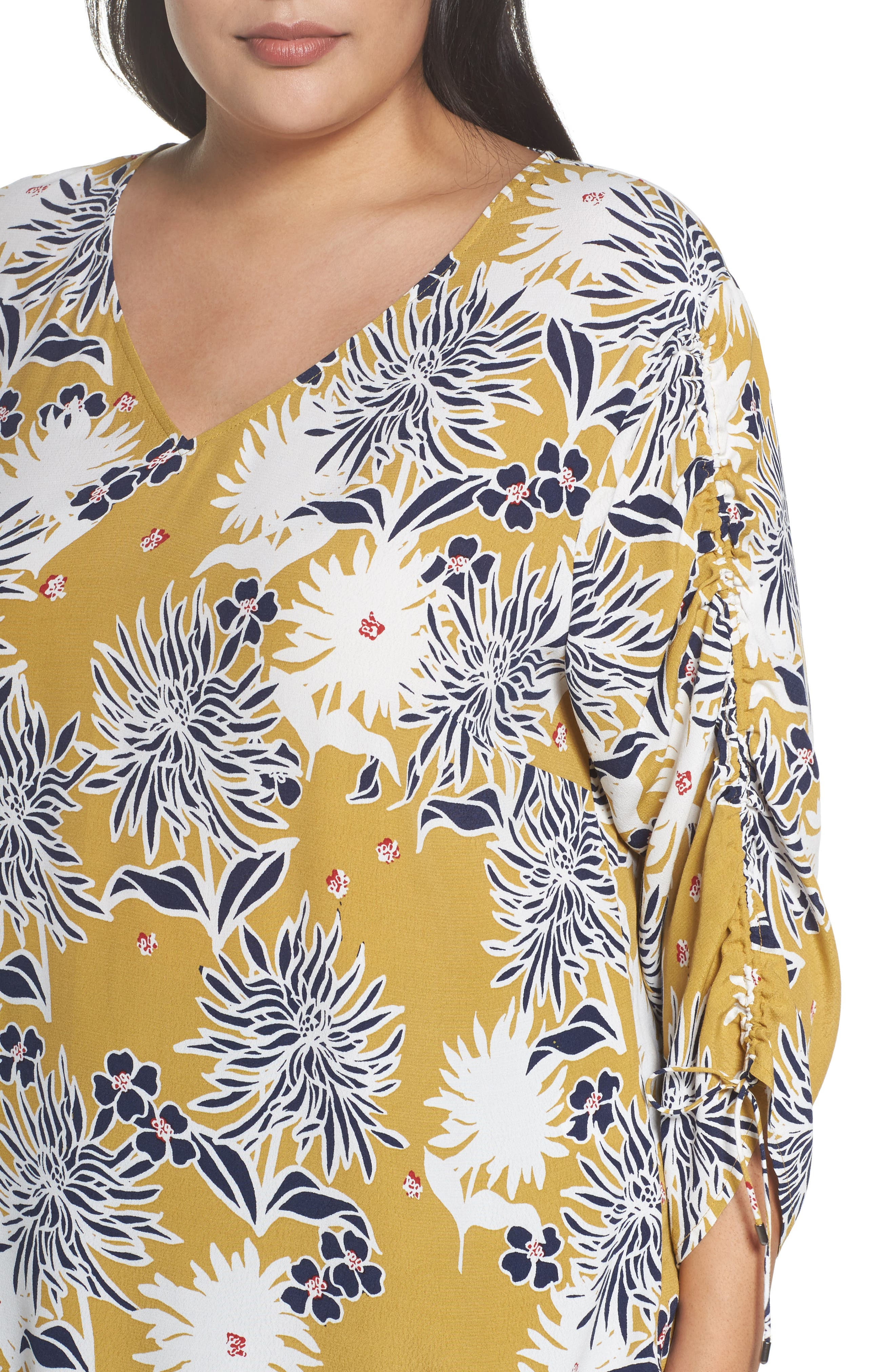 Cinched Sleeve Top,                             Alternate thumbnail 11, color,