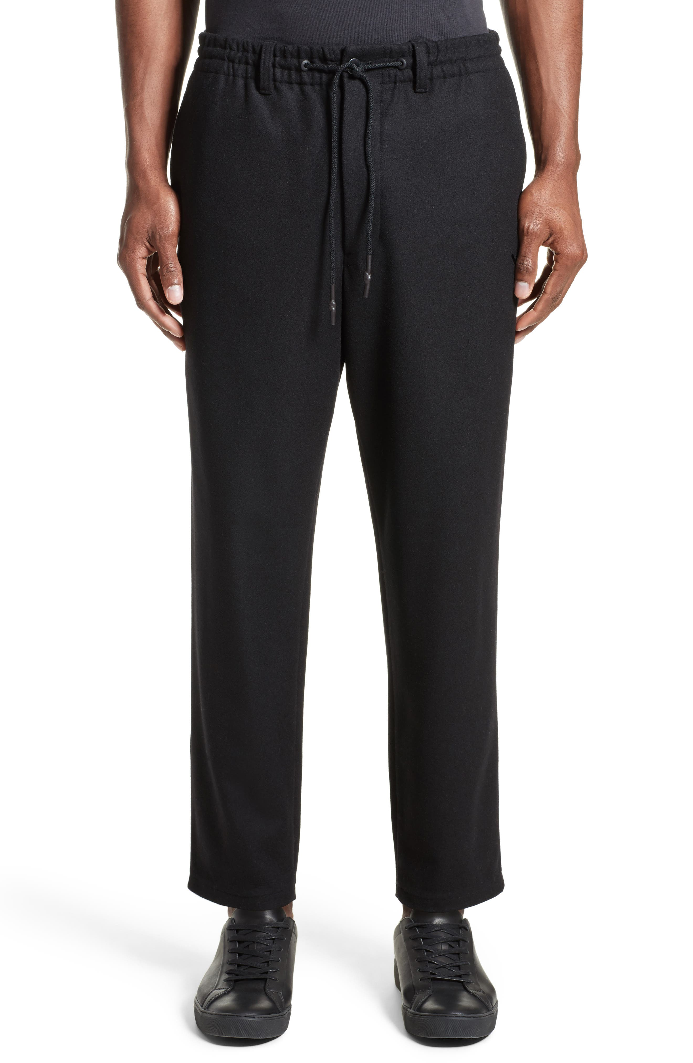 Cropped Wool Blend Pants,                             Main thumbnail 1, color,                             001