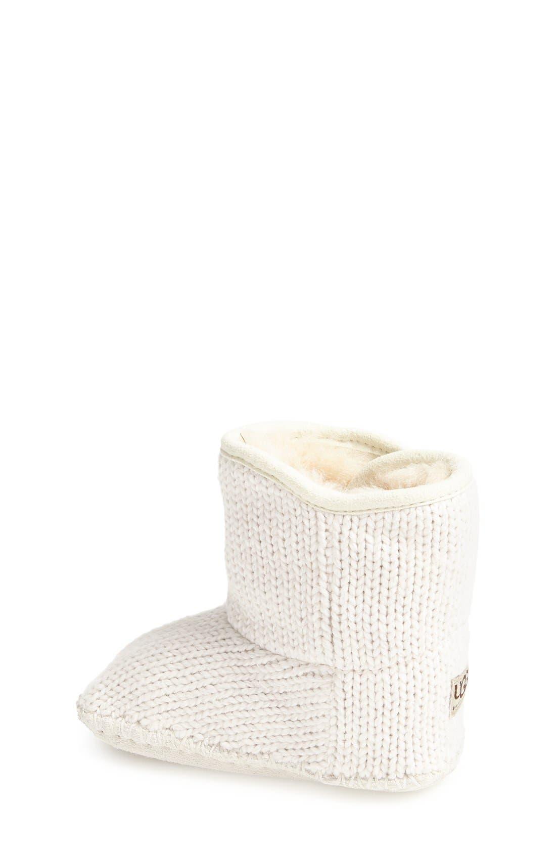 Purl Knit Bootie,                             Alternate thumbnail 3, color,                             924