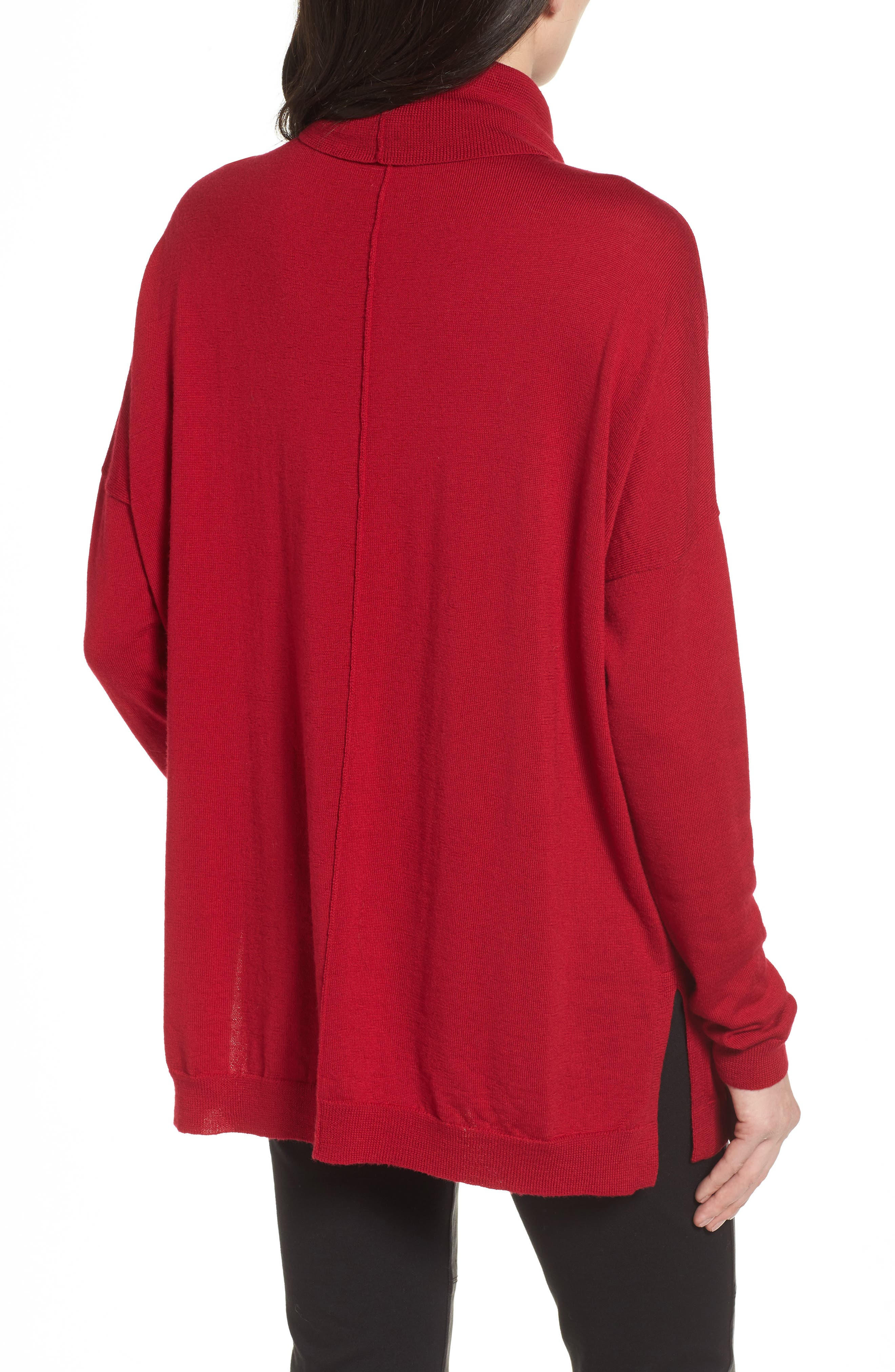 Merino Wool Boxy Turtleneck Sweater,                             Alternate thumbnail 12, color,