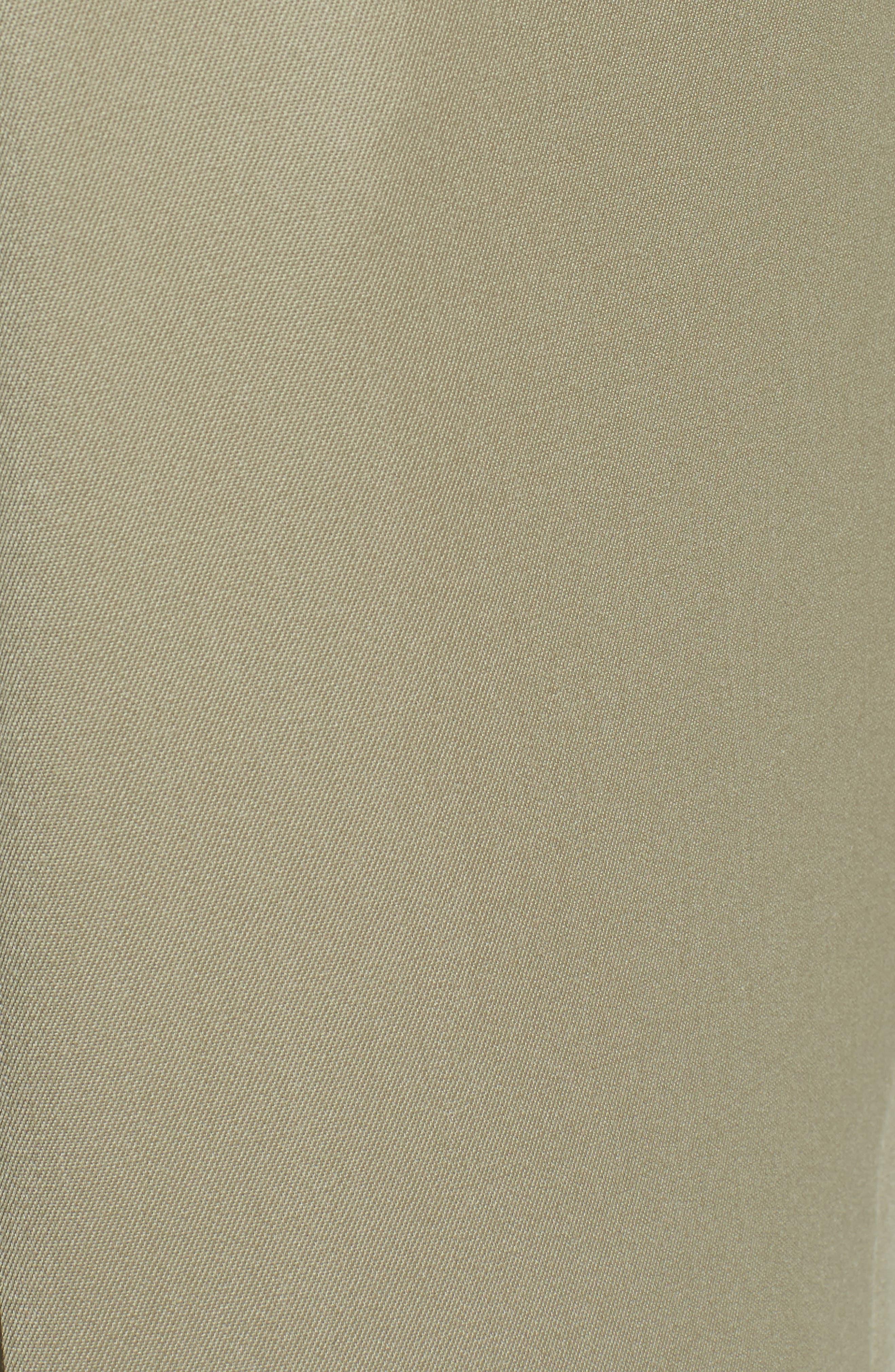 Pleated Wool Gabardine Trousers,                             Alternate thumbnail 6, color,                             TAN