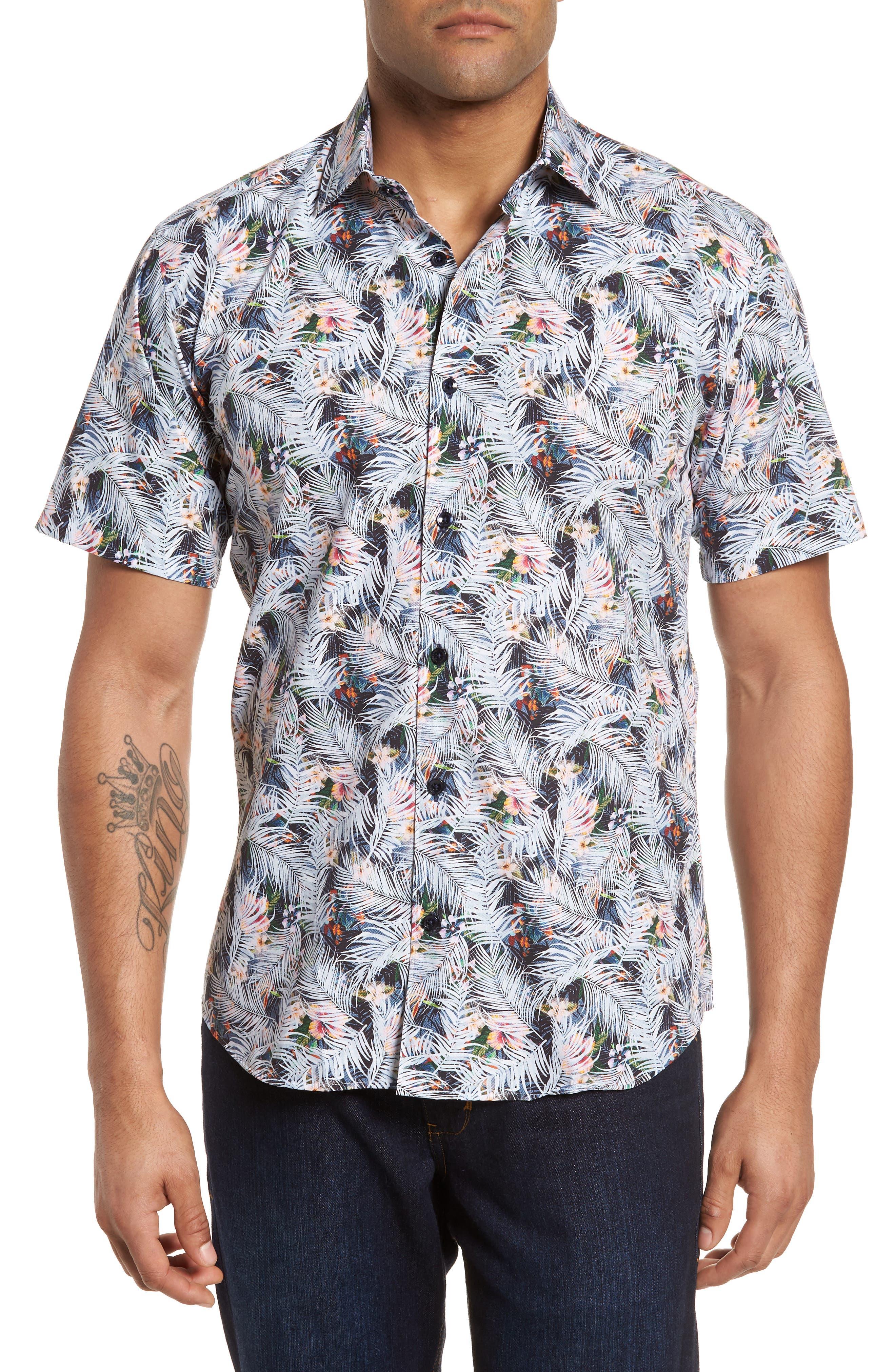 Print Sport Shirt,                         Main,                         color, 970