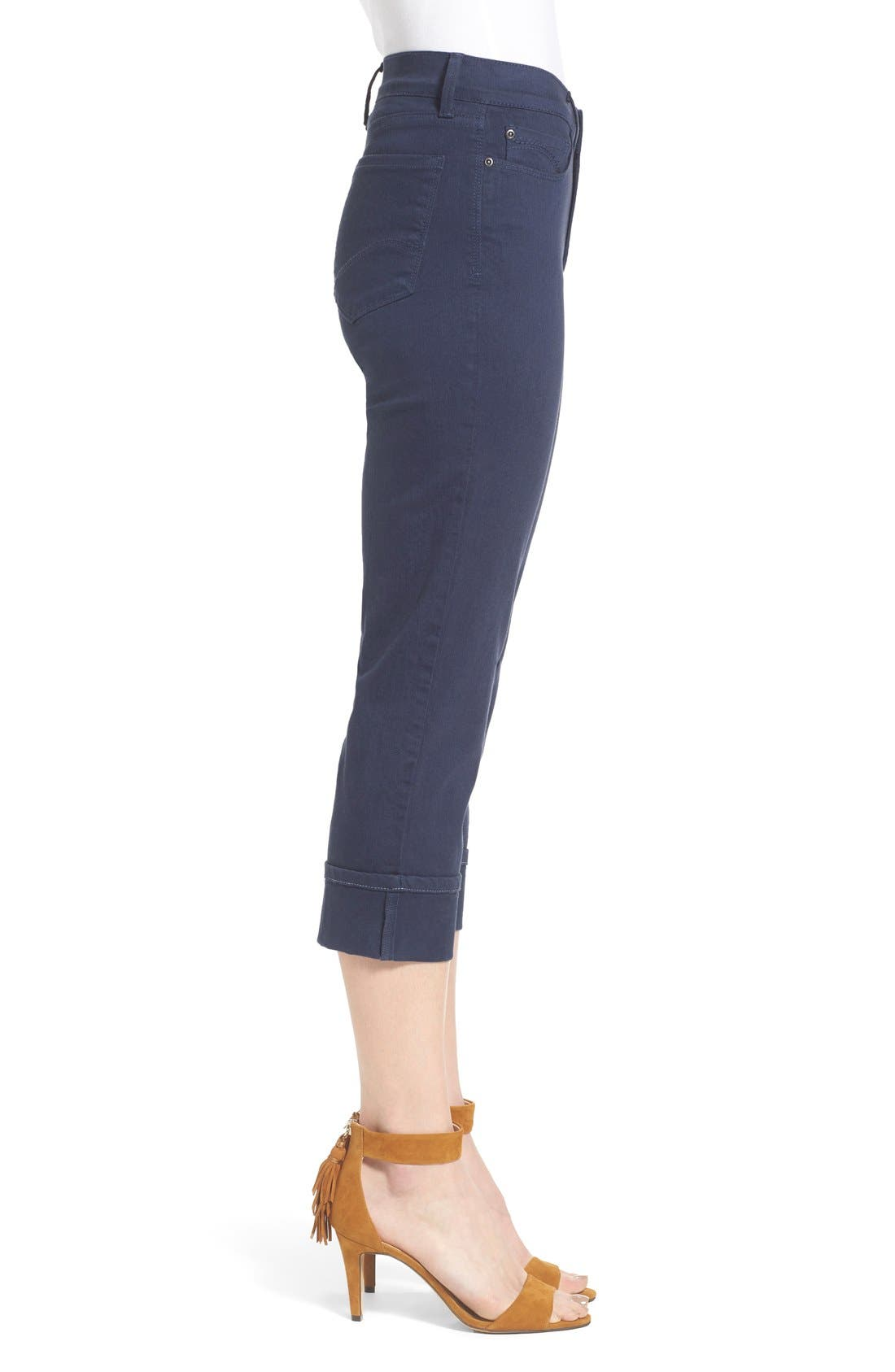 'Dayla' Colored Wide Cuff Capri Jeans,                             Alternate thumbnail 63, color,