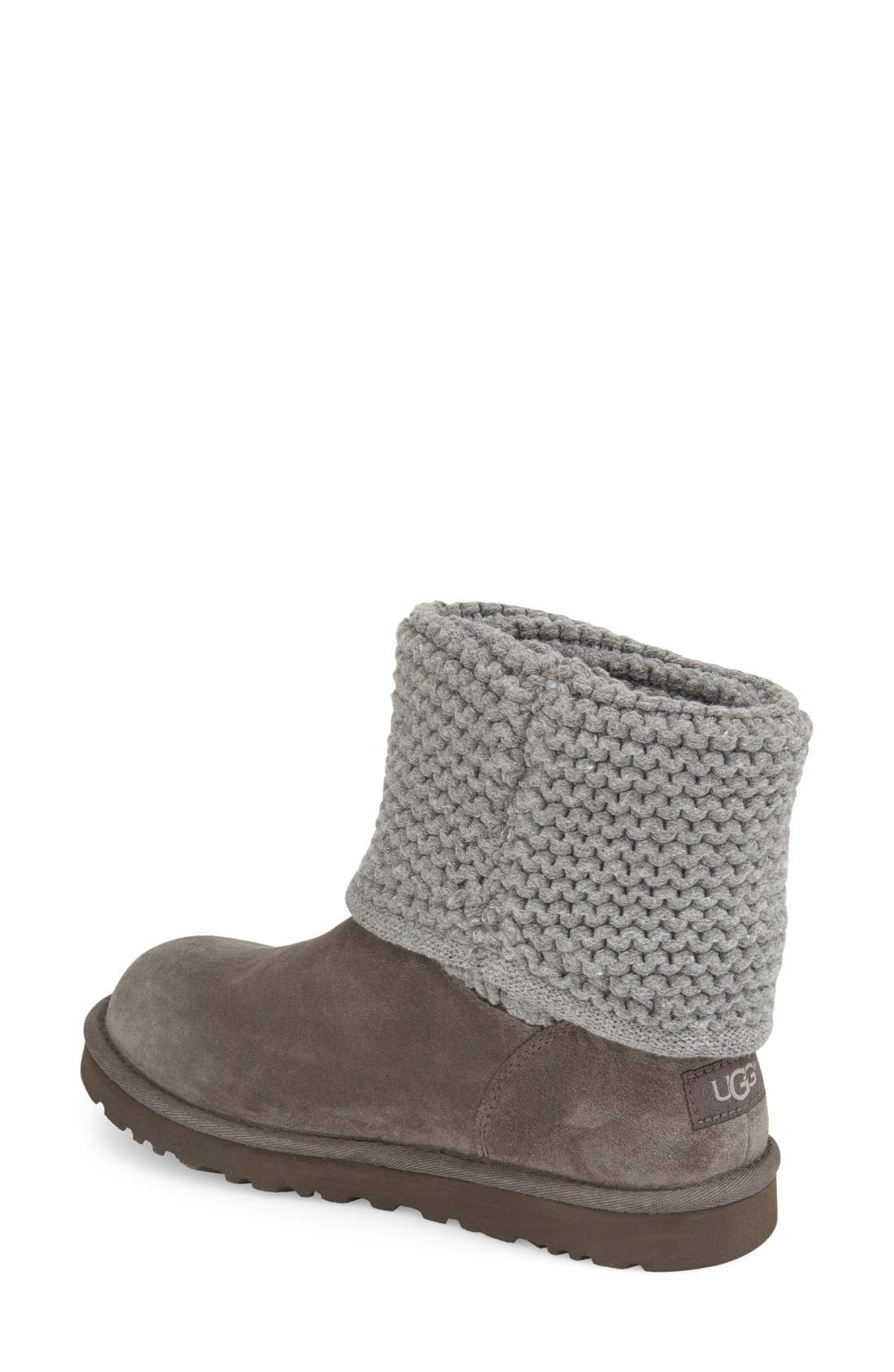 Shaina Knit Cuff Bootie,                             Alternate thumbnail 6, color,