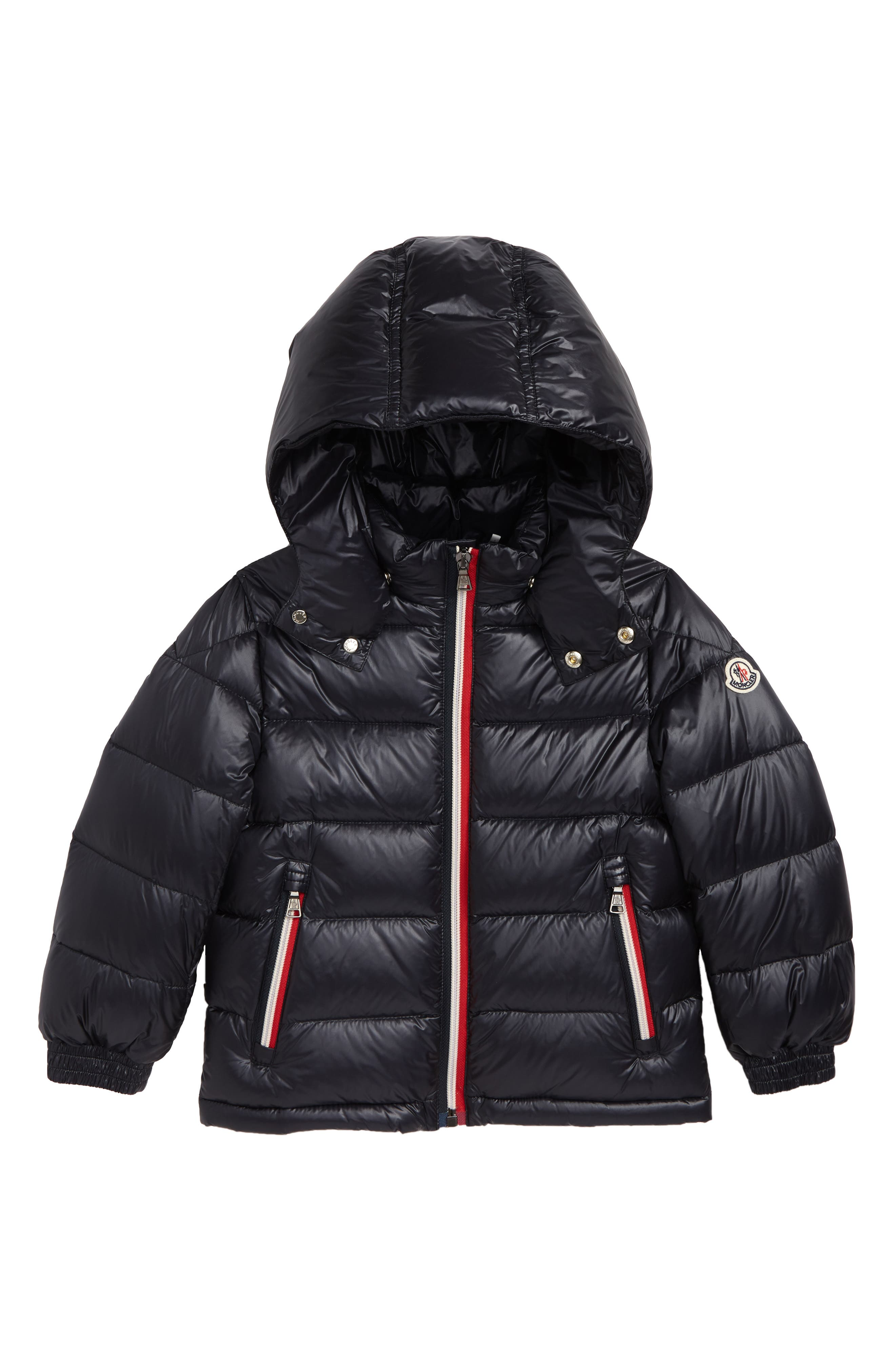 Gastonet Hooded Water Resistant Down Jacket,                             Main thumbnail 1, color,                             NAVY