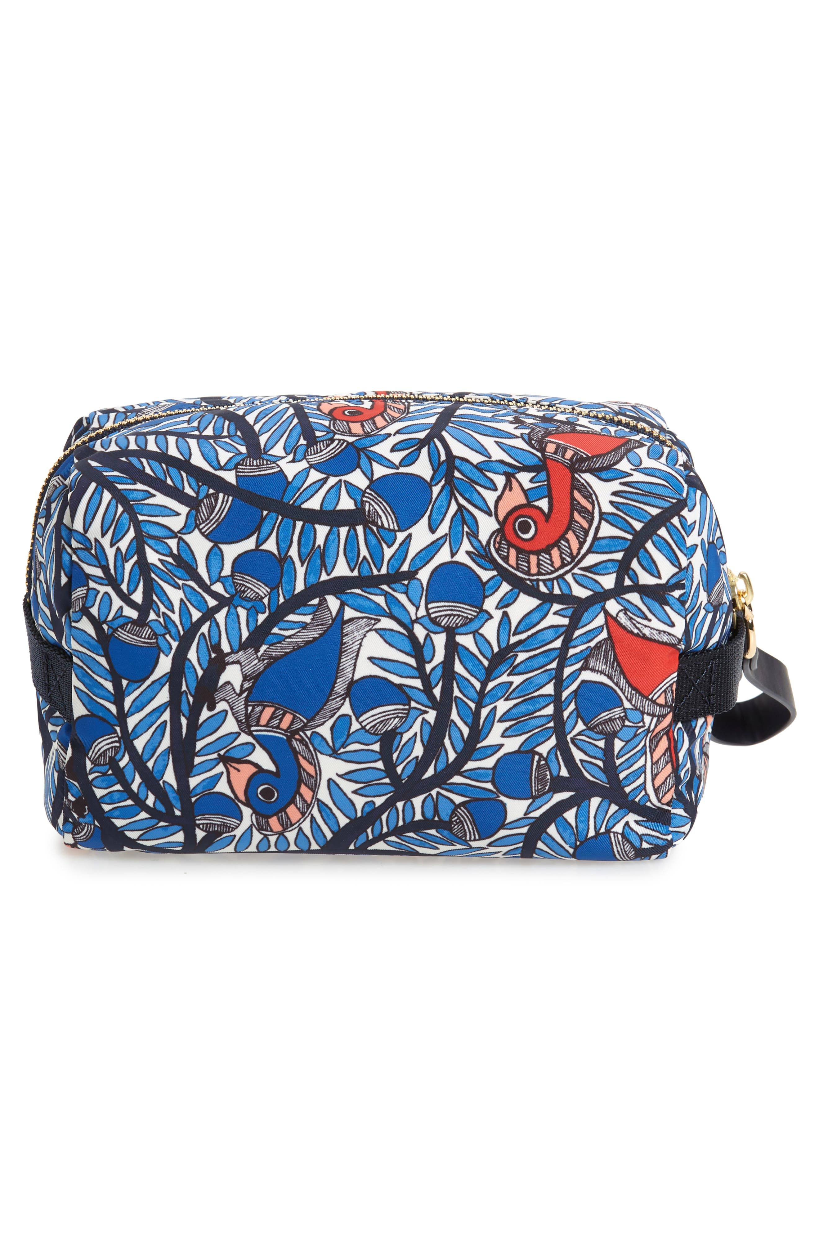 TORY BURCH,                             Medium Tilda Print Cosmetics Case,                             Alternate thumbnail 2, color,                             BLUE SOMETHING WILD