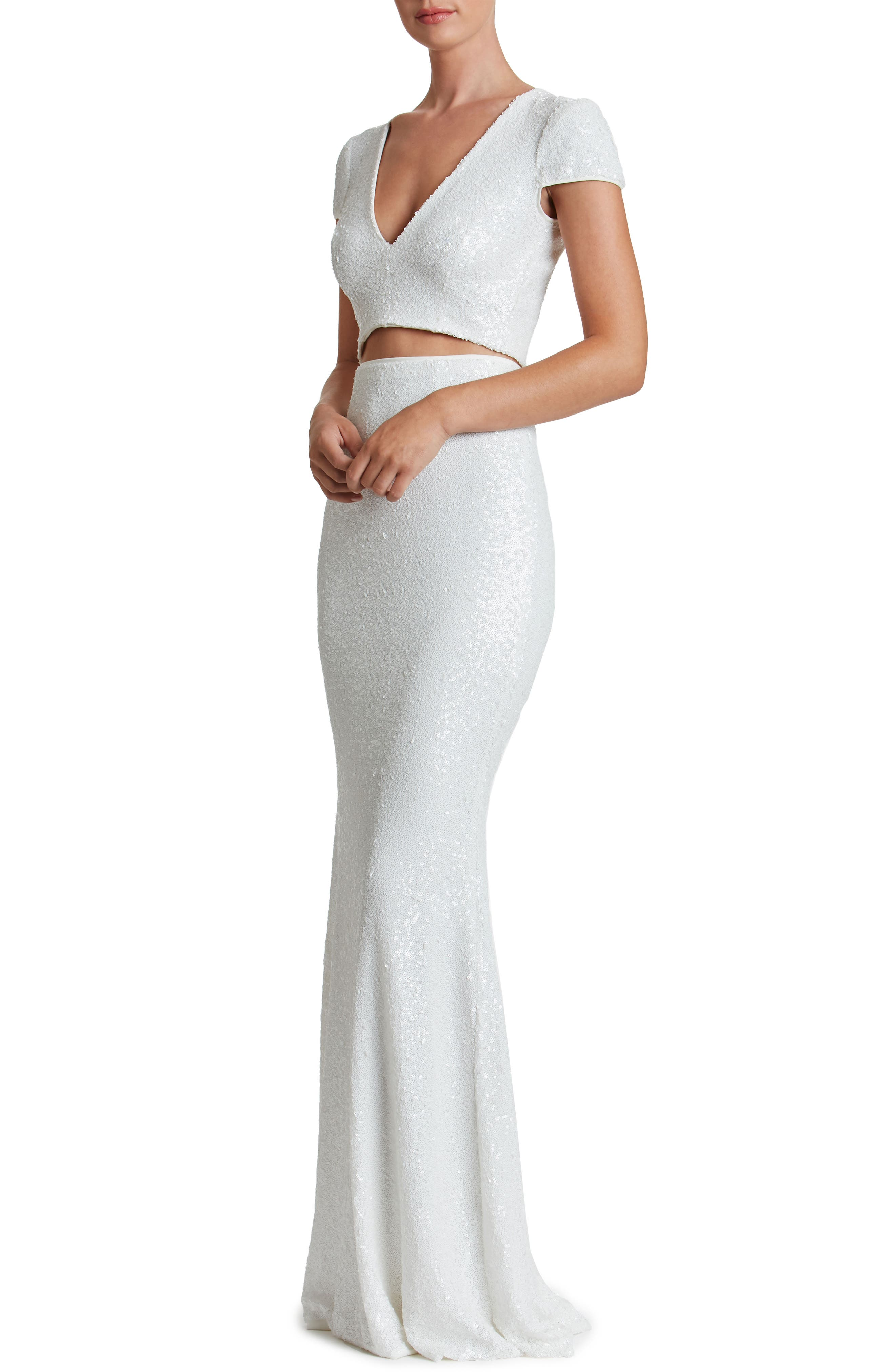 Cara Two-Piece Gown,                             Alternate thumbnail 8, color,