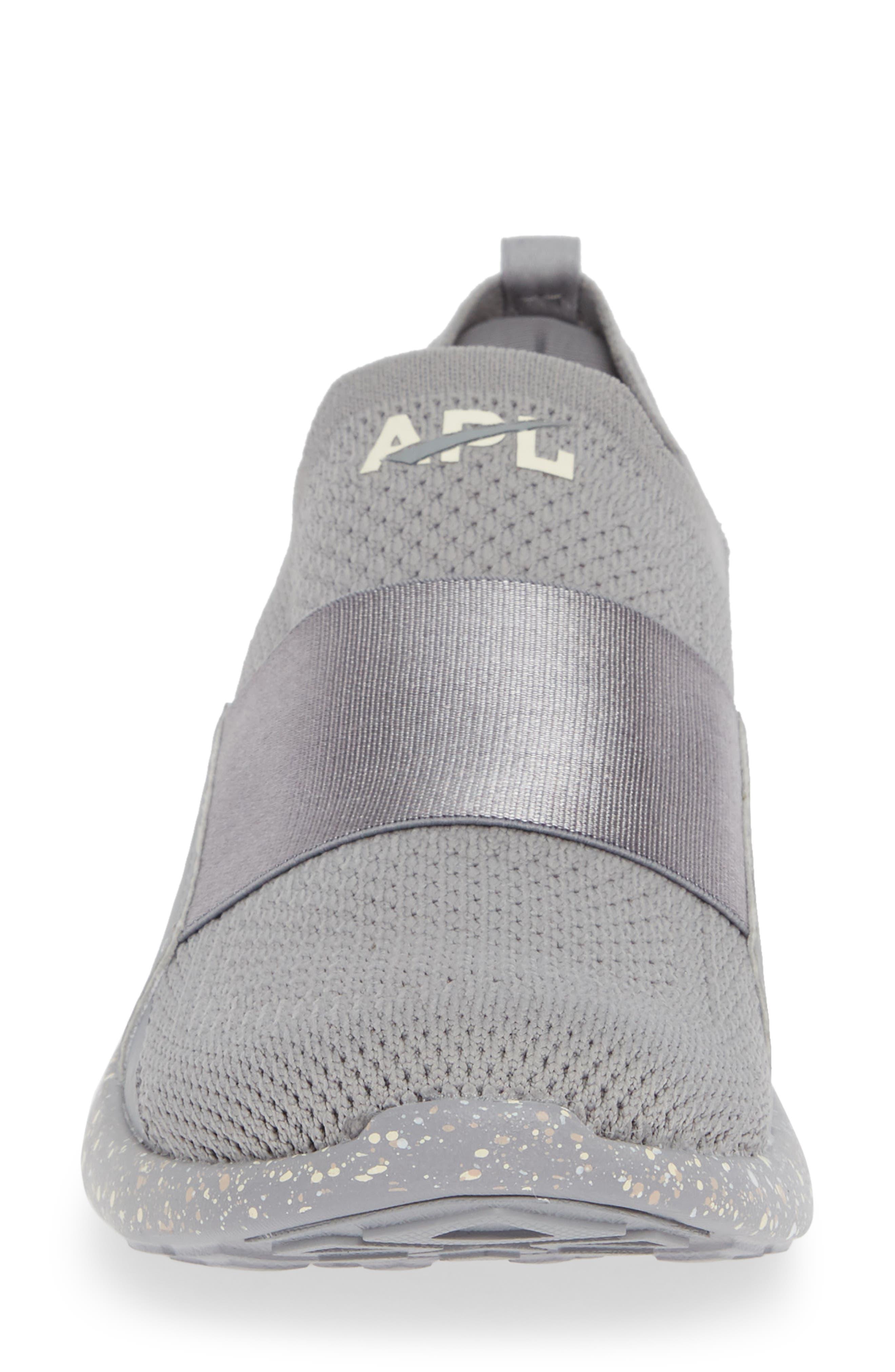 APL,                             Techloom Bliss Knit Running Shoe,                             Alternate thumbnail 4, color,                             CEMENT/ SEA SALT/ CREAM