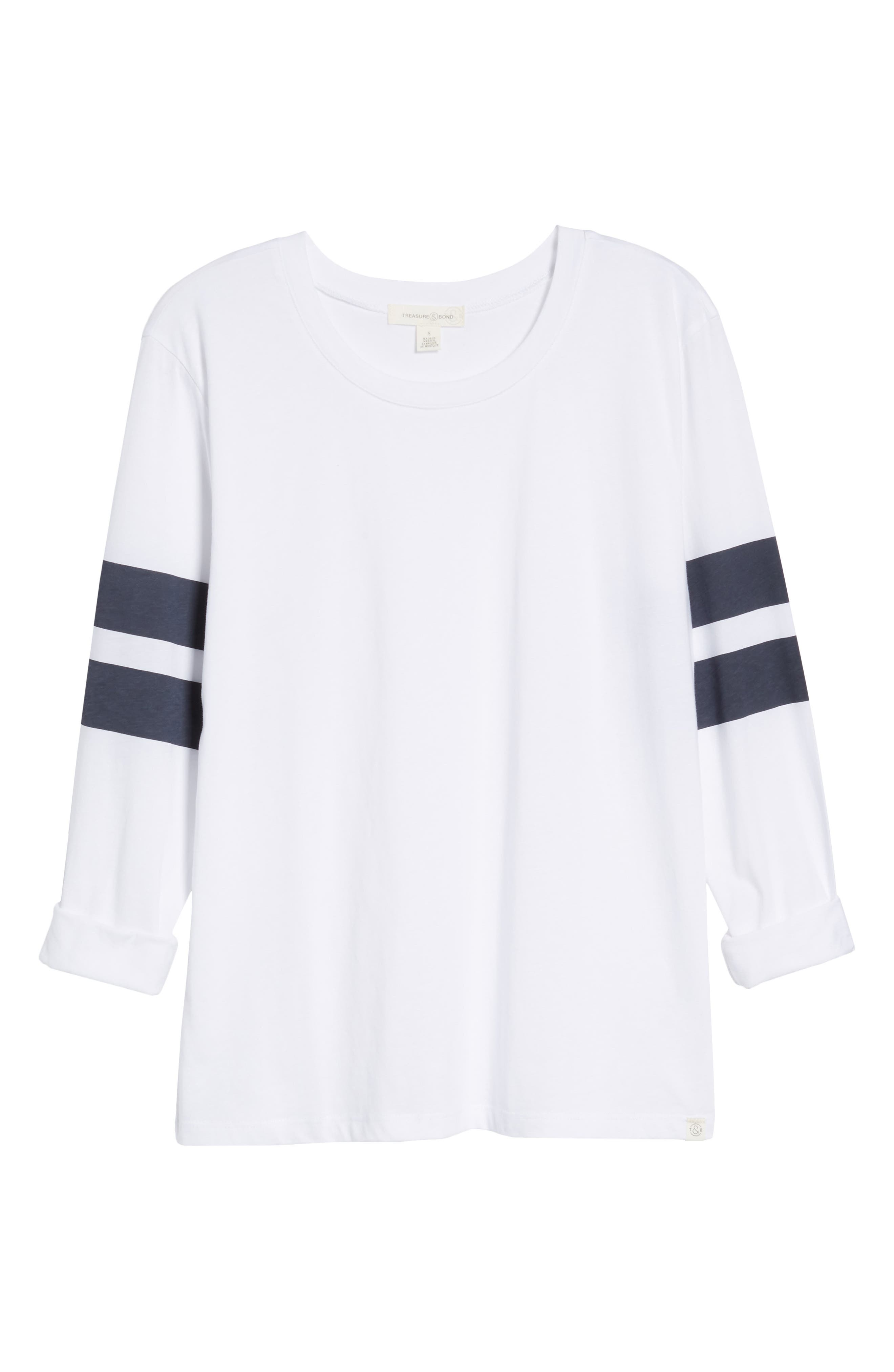 Varsity Stripe Cotton Tee,                             Alternate thumbnail 122, color,