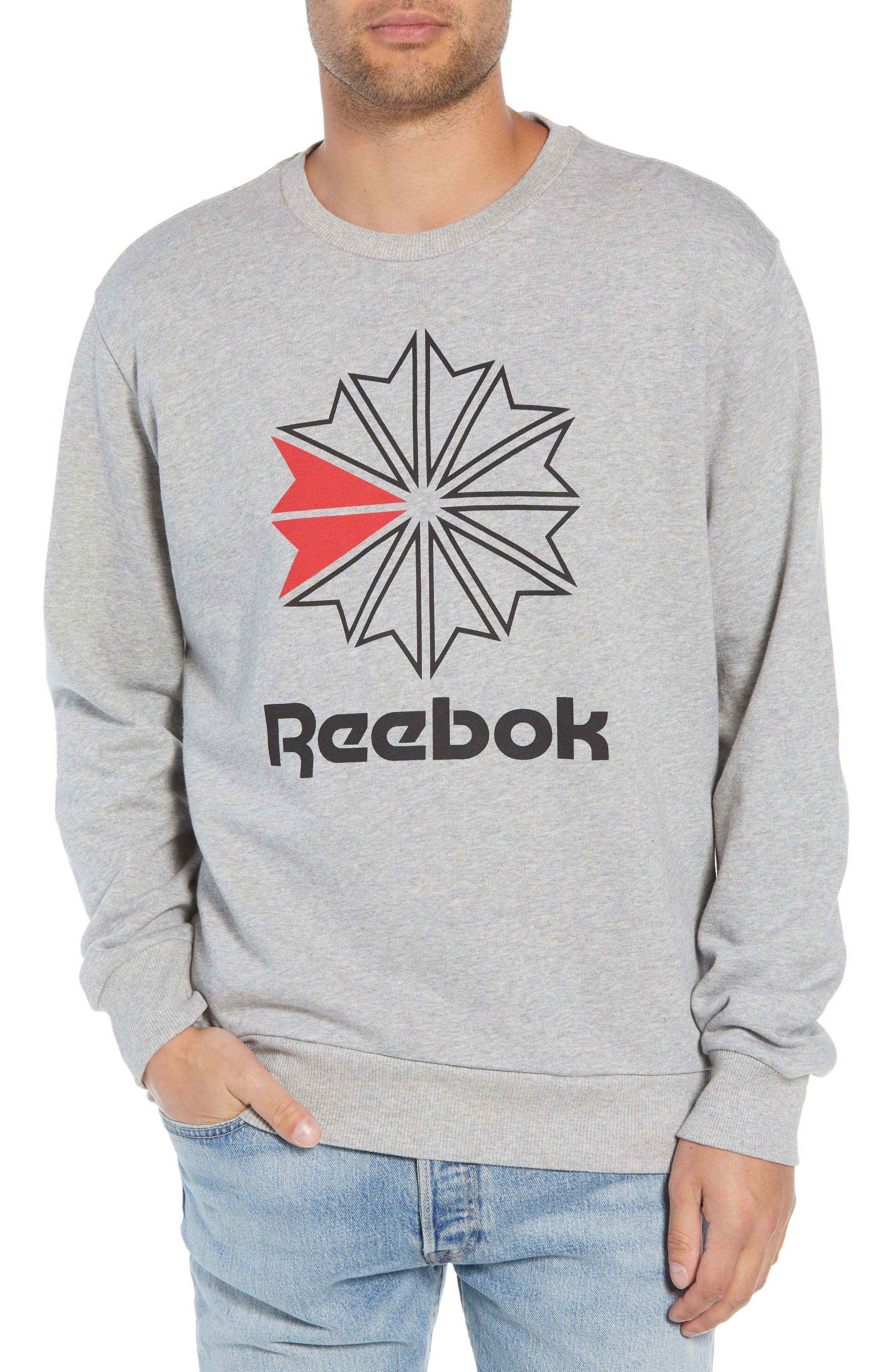 Classic Big Starcrest Logo Sweatshirt,                         Main,                         color, MEDIUM GREY HEATHER