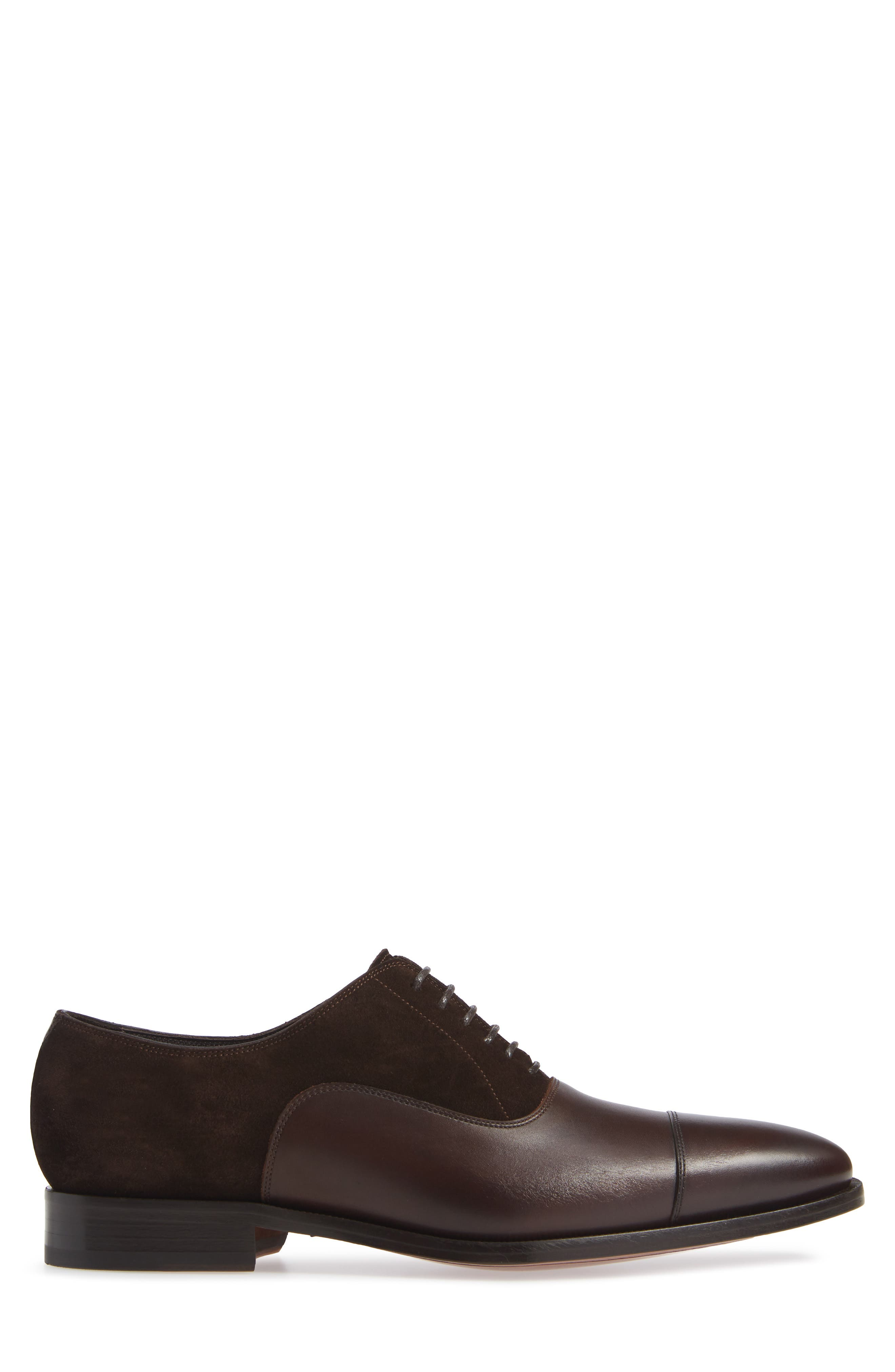 Amadora Cap Toe Oxford,                             Alternate thumbnail 3, color,                             BERRY/ BROWN LEATHER