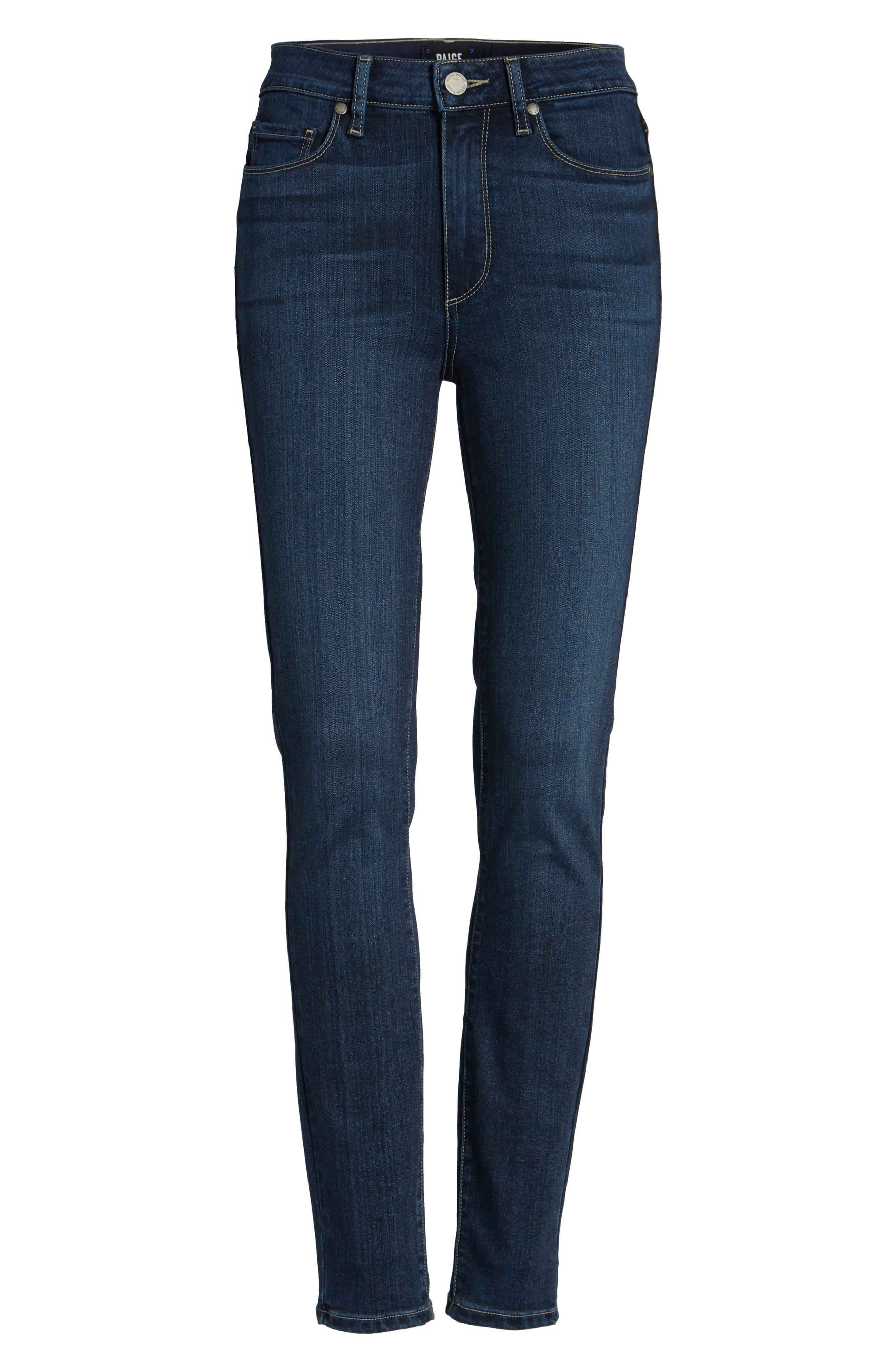 Transcend - Hoxton High Waist Ankle Skinny Jeans,                             Alternate thumbnail 6, color,                             CHARING