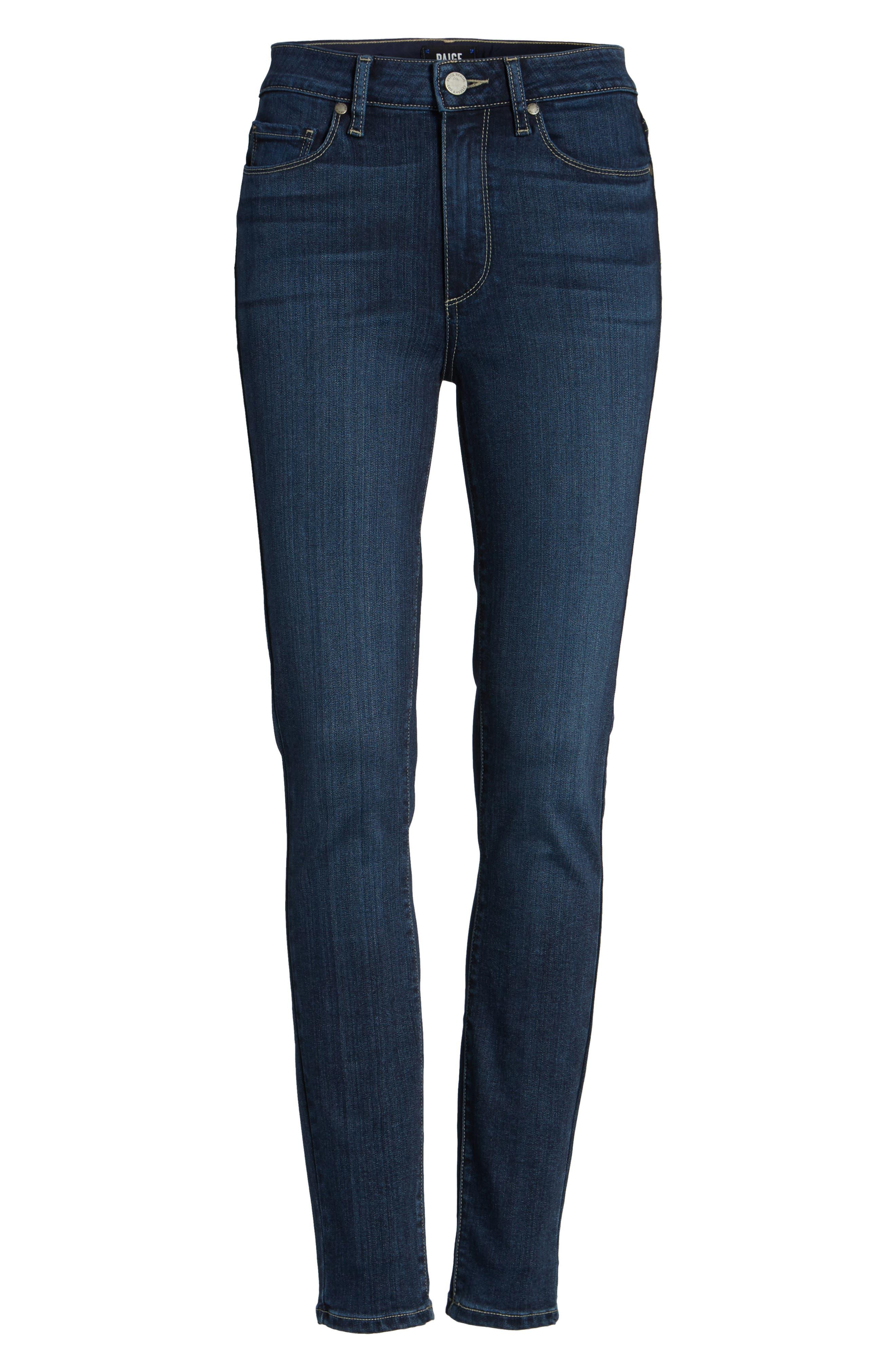 Transcend - Hoxton High Waist Ankle Skinny Jeans,                             Alternate thumbnail 7, color,                             400