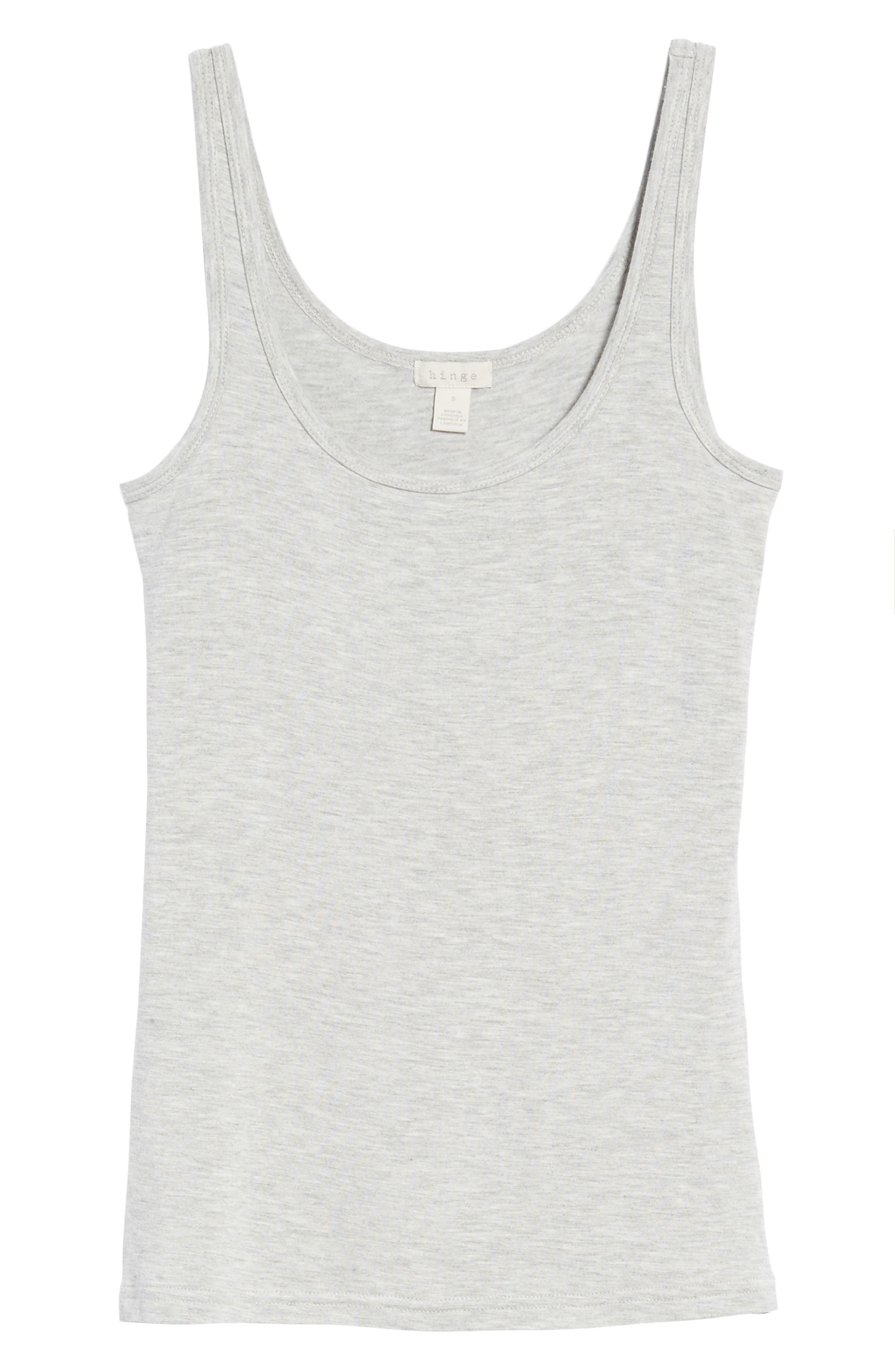 Jersey Tank,                             Alternate thumbnail 7, color,                             HEATHER STEEL