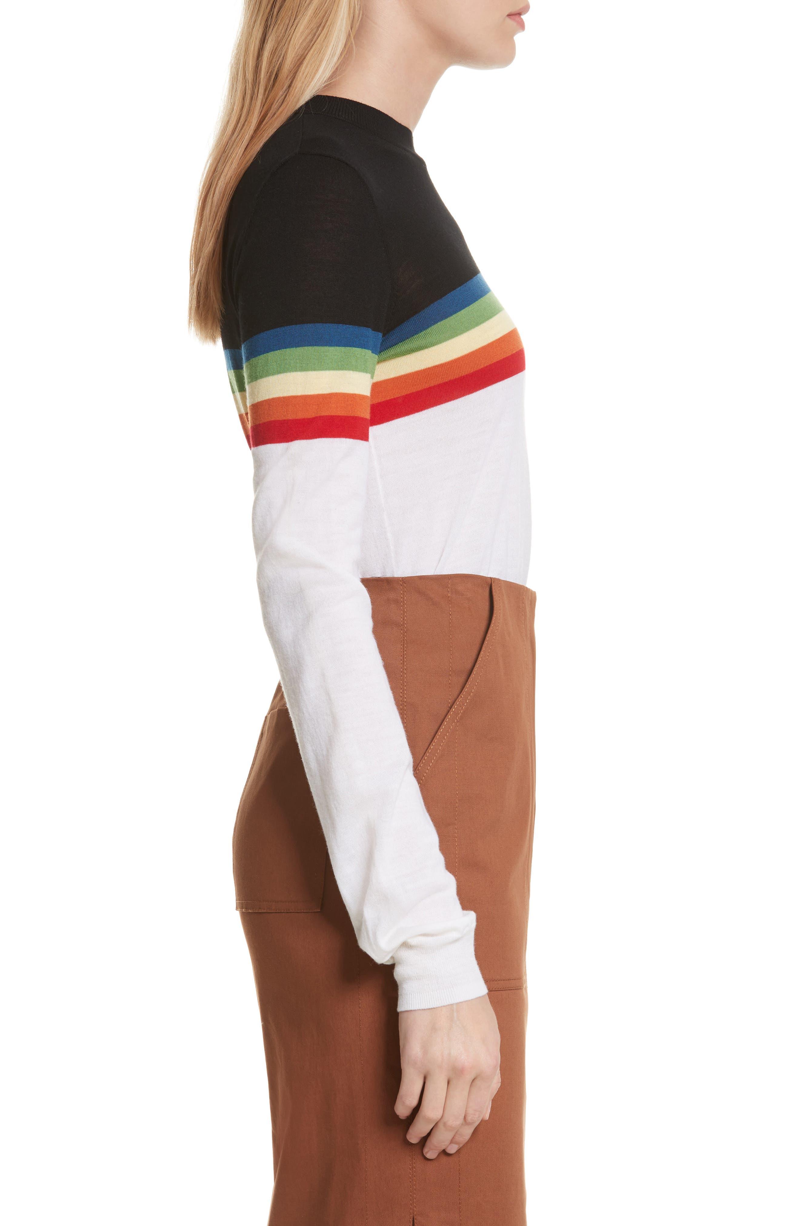 Diane von Furstenberg Rainbow Sweater,                             Alternate thumbnail 3, color,                             107