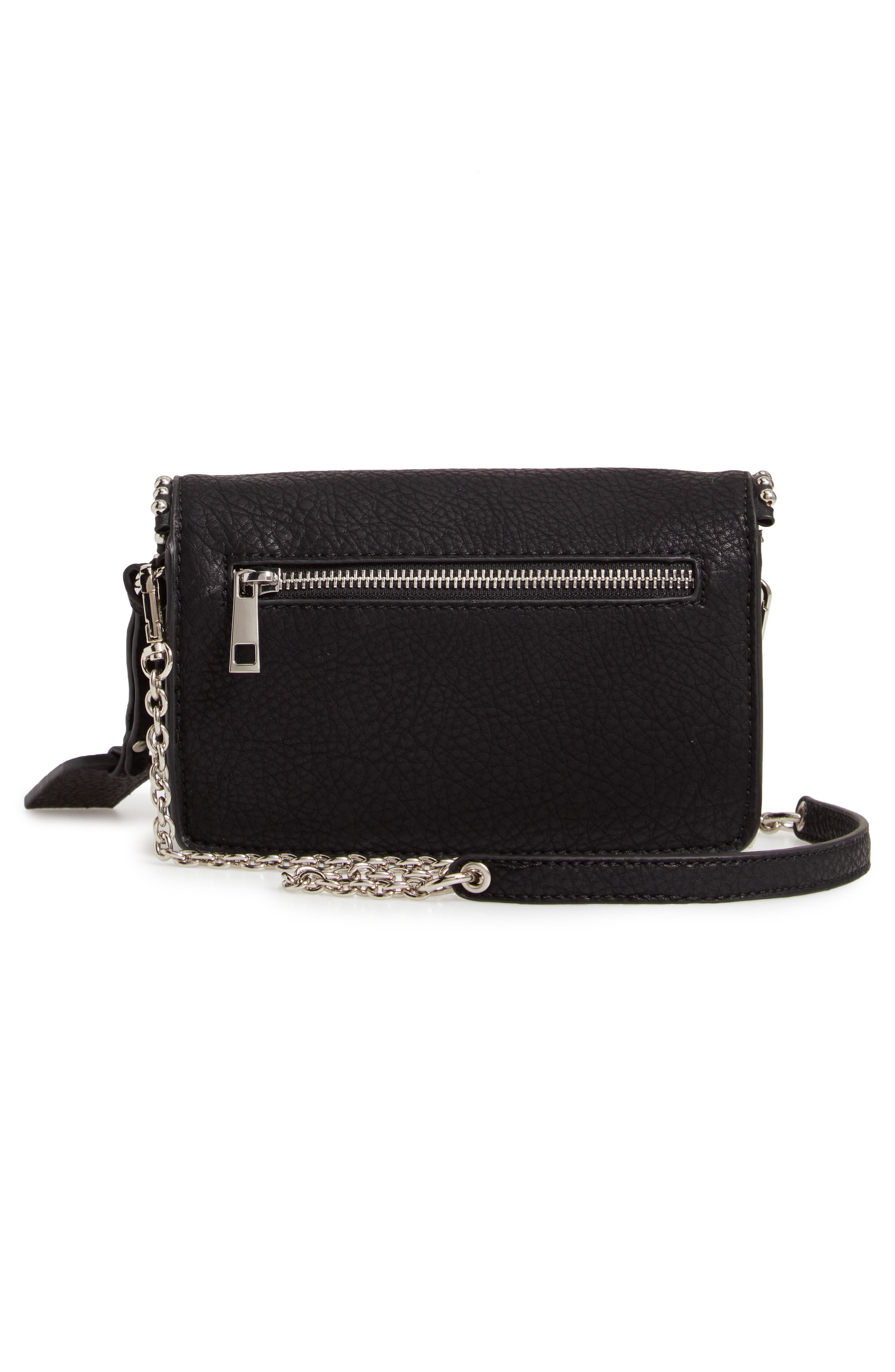 Eytal Studded Faux Leather Crossbody,                             Alternate thumbnail 3, color,                             001