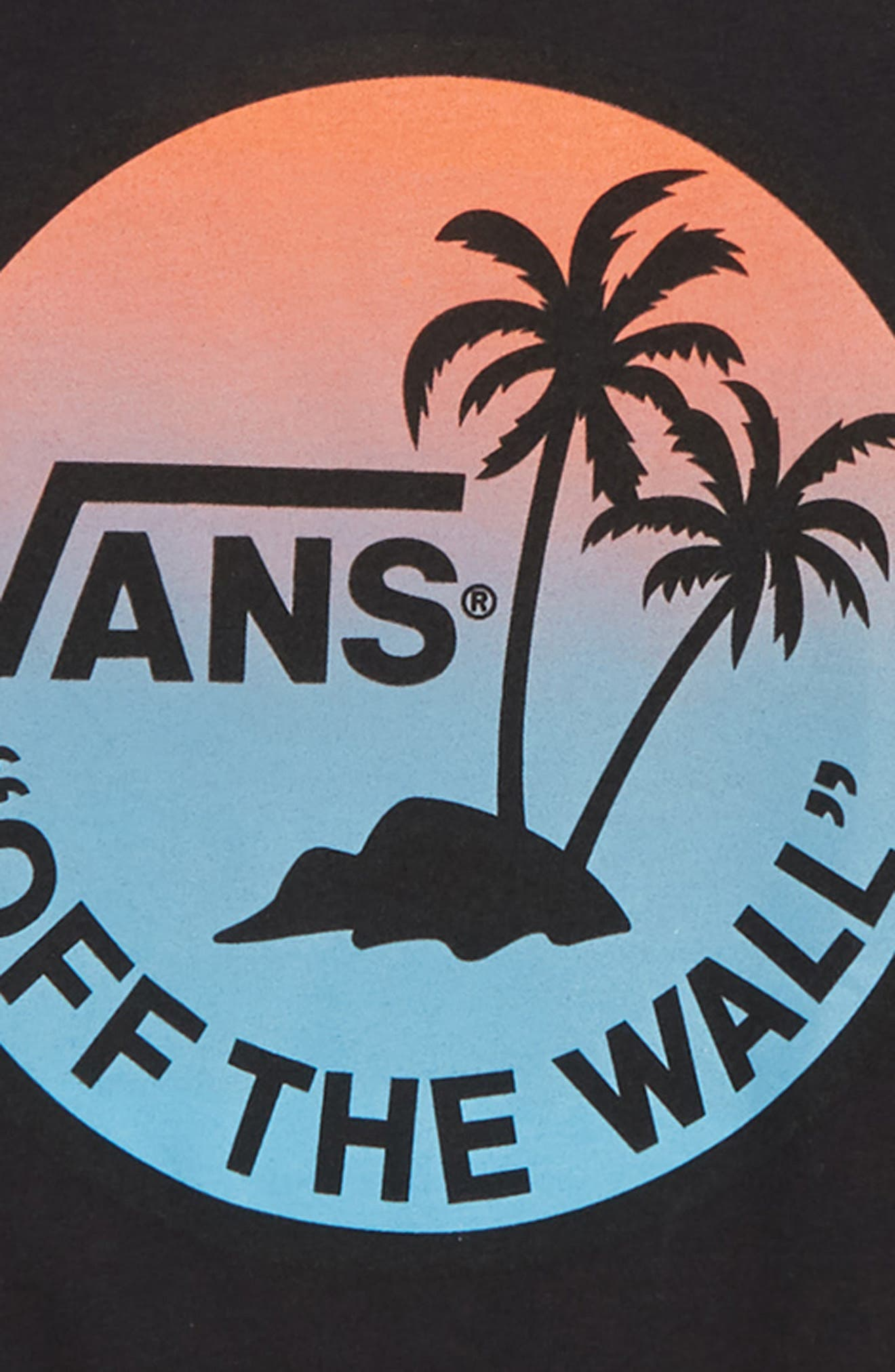 Dual Palm Gradient Logo T-Shirt,                             Alternate thumbnail 2, color,                             BLACK BLUE GRADIENT