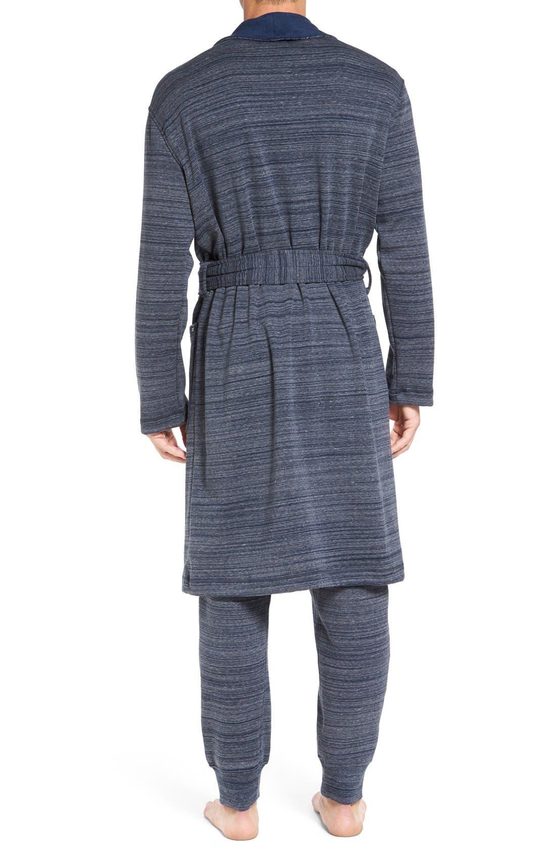 'Robinson' Stretch Cotton Robe,                             Alternate thumbnail 4, color,