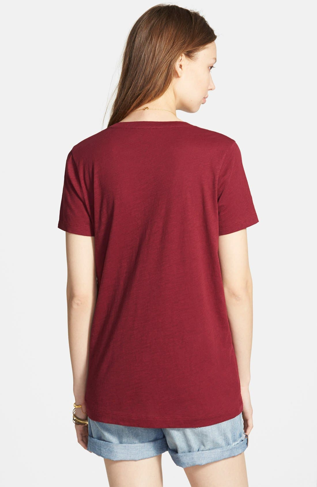 Whisper Cotton V-Neck Pocket Tee,                             Alternate thumbnail 85, color,