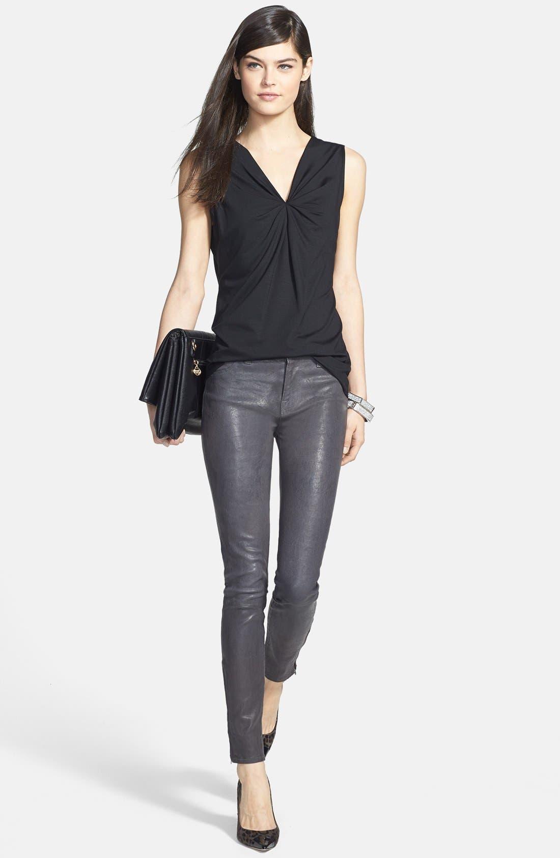 '8001' Lambskin Leather Pants,                             Alternate thumbnail 80, color,