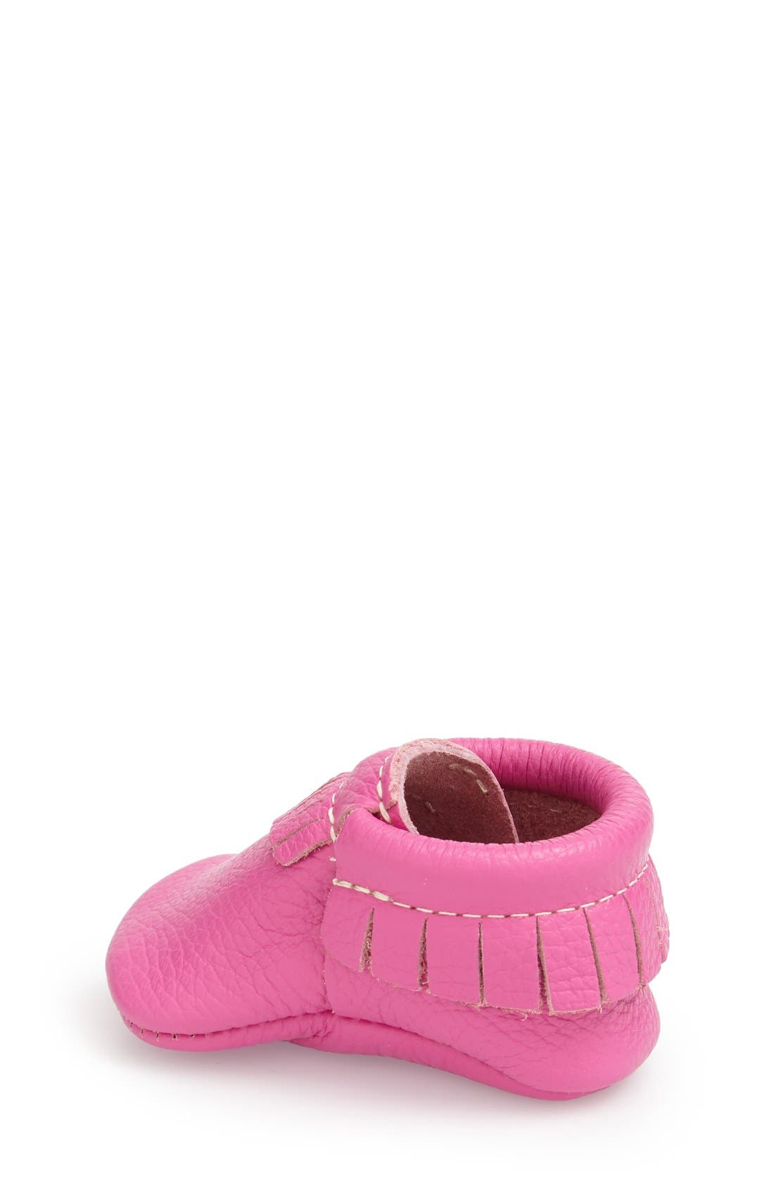 Leather Moccasin,                             Alternate thumbnail 2, color,                             MAGENTA