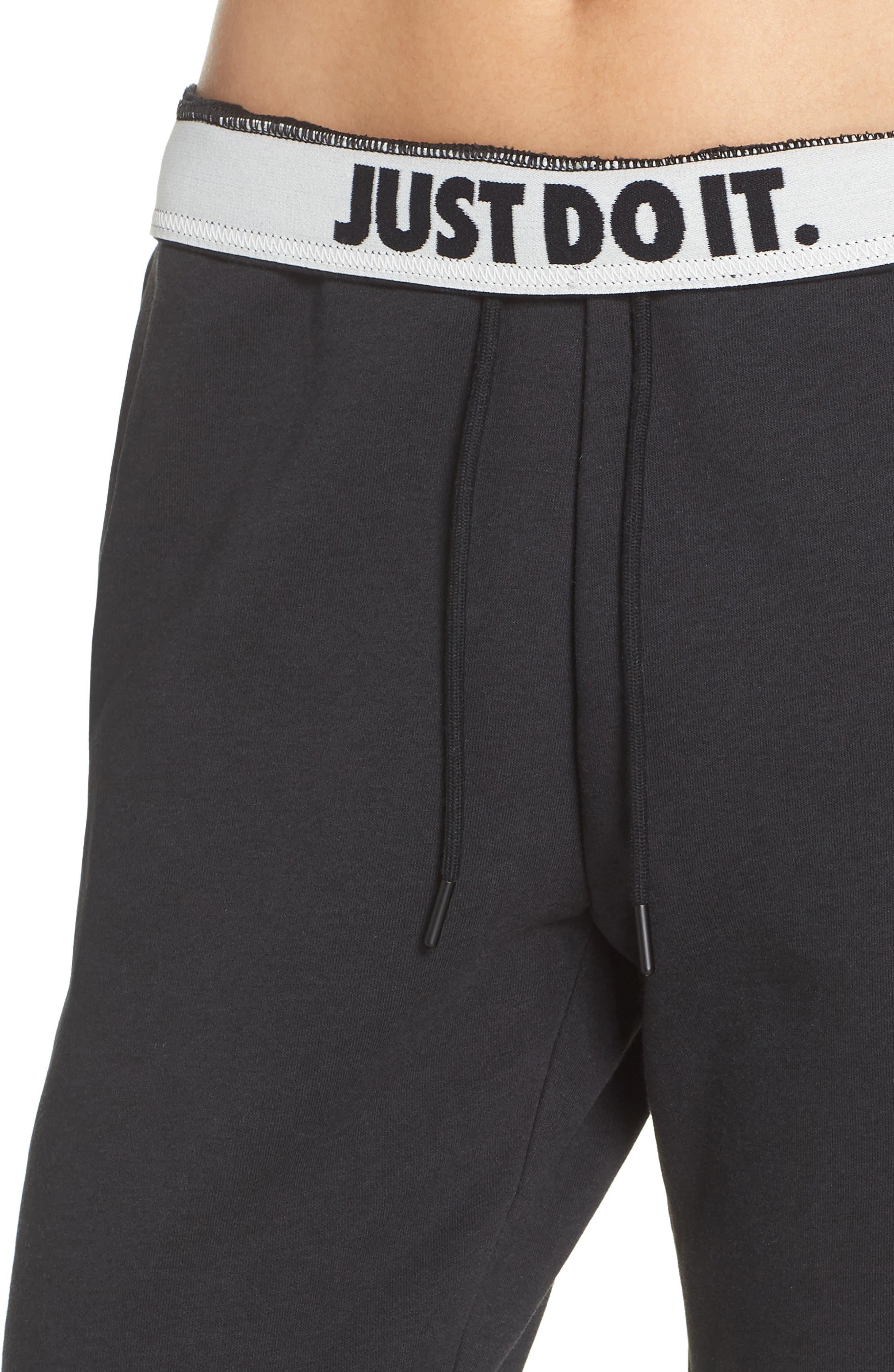 Sportswear Rally Jogger Pants,                             Alternate thumbnail 4, color,                             BLACK/ BLACK/ WHITE