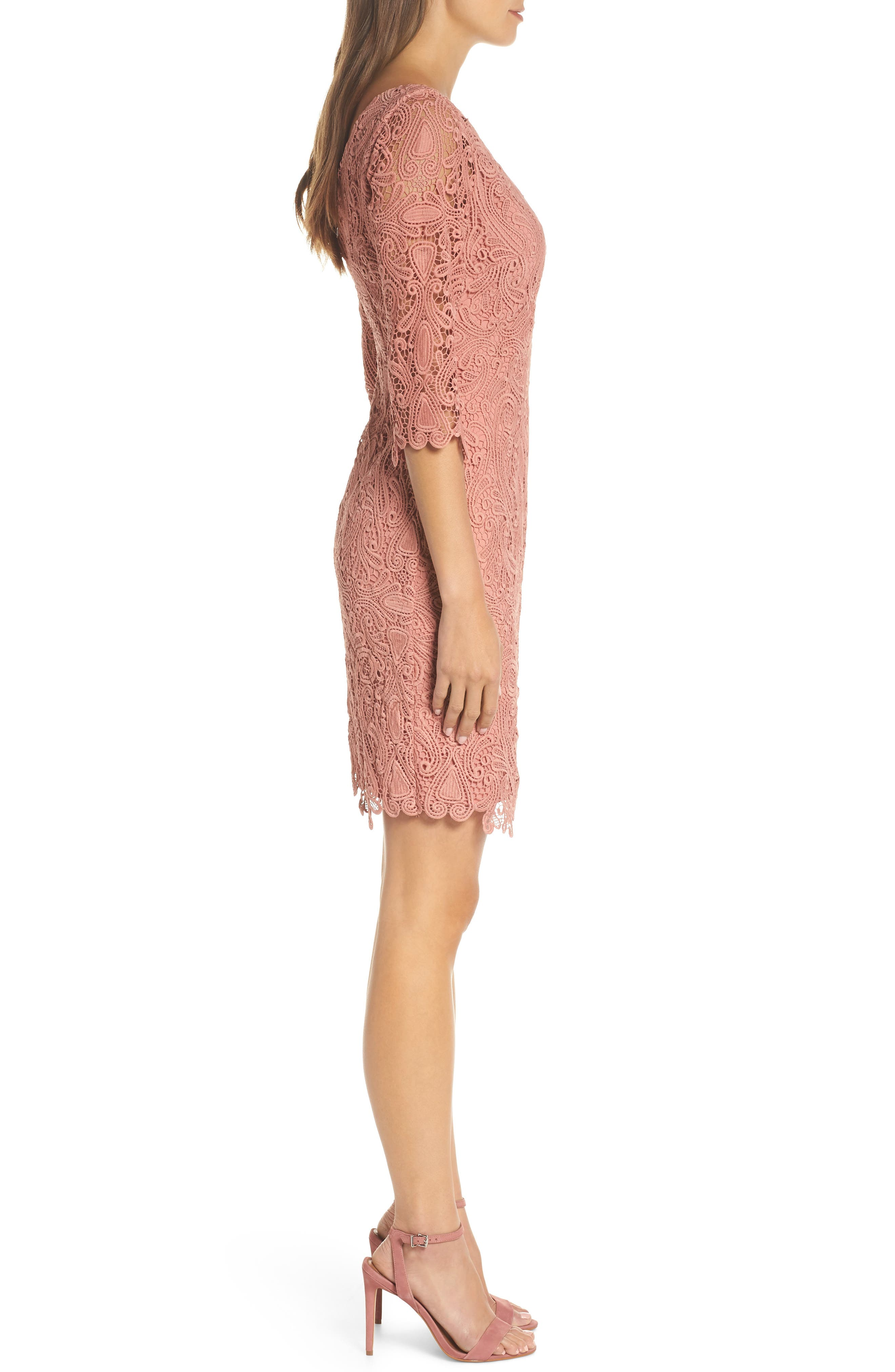 Lace Sheath Dress,                             Alternate thumbnail 3, color,                             951