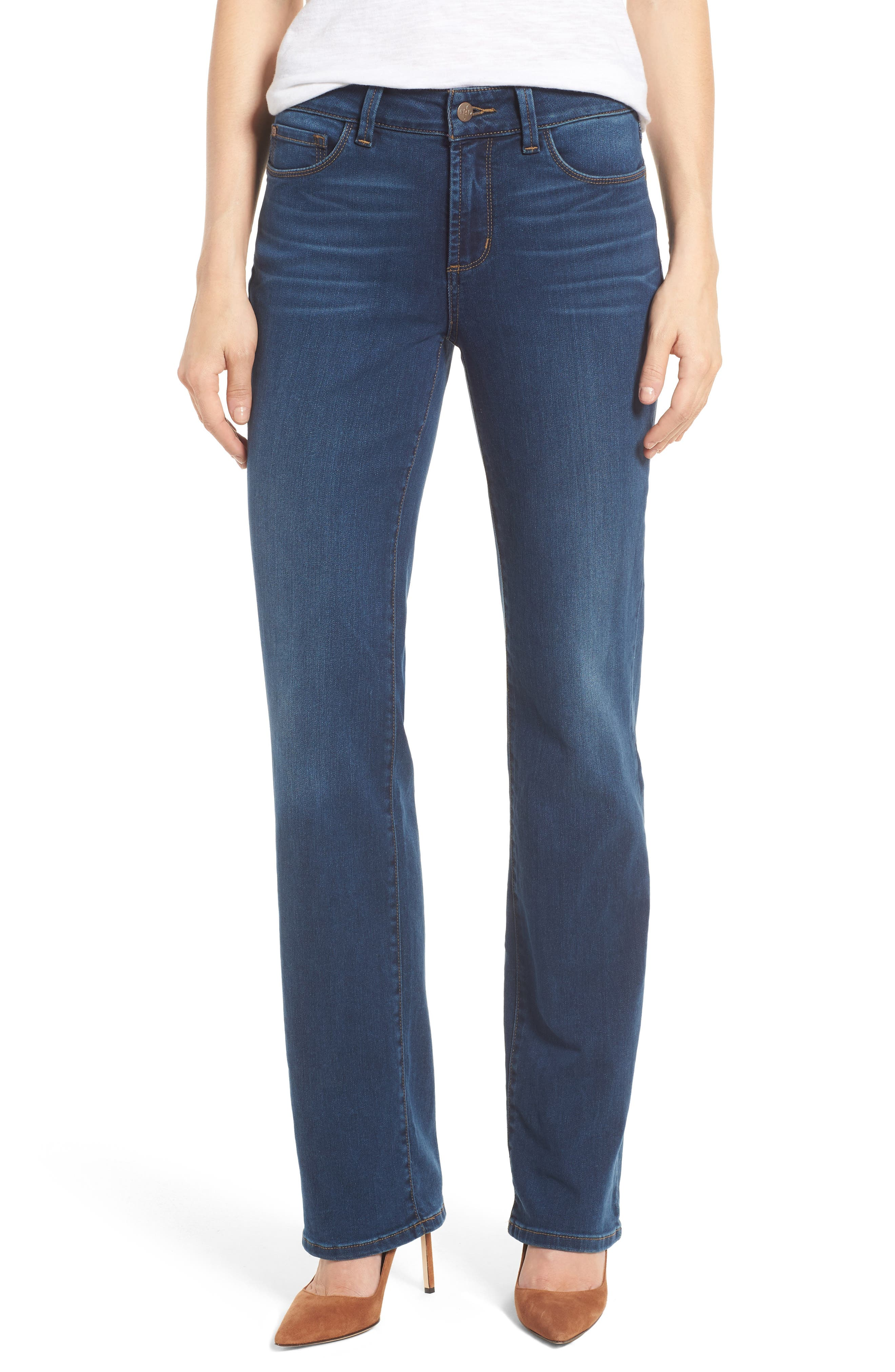 Marilyn Stretch Straight Leg Jeans,                         Main,                         color, SEA BREEZE