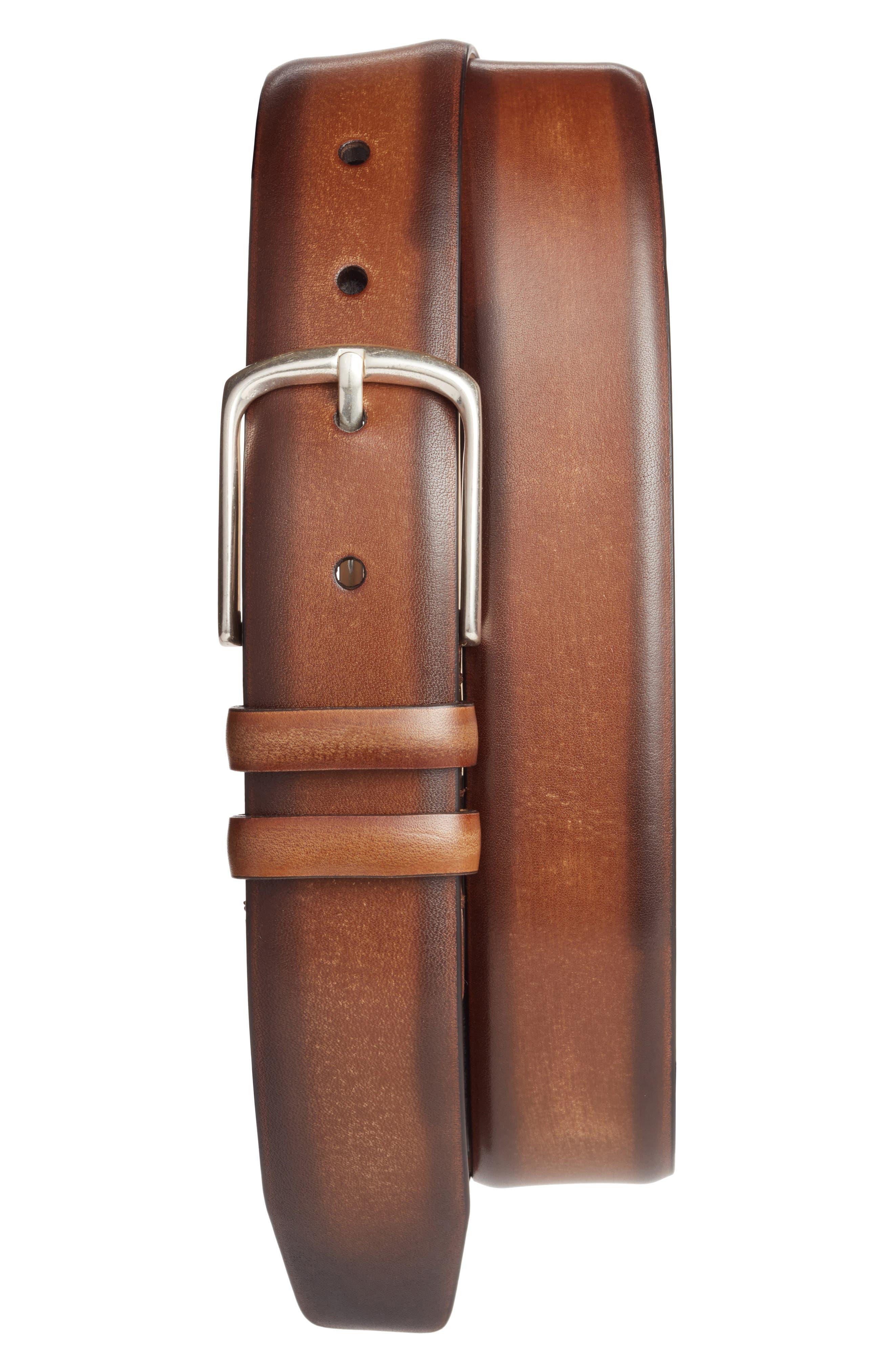 Palma Leather Belt,                             Main thumbnail 1, color,