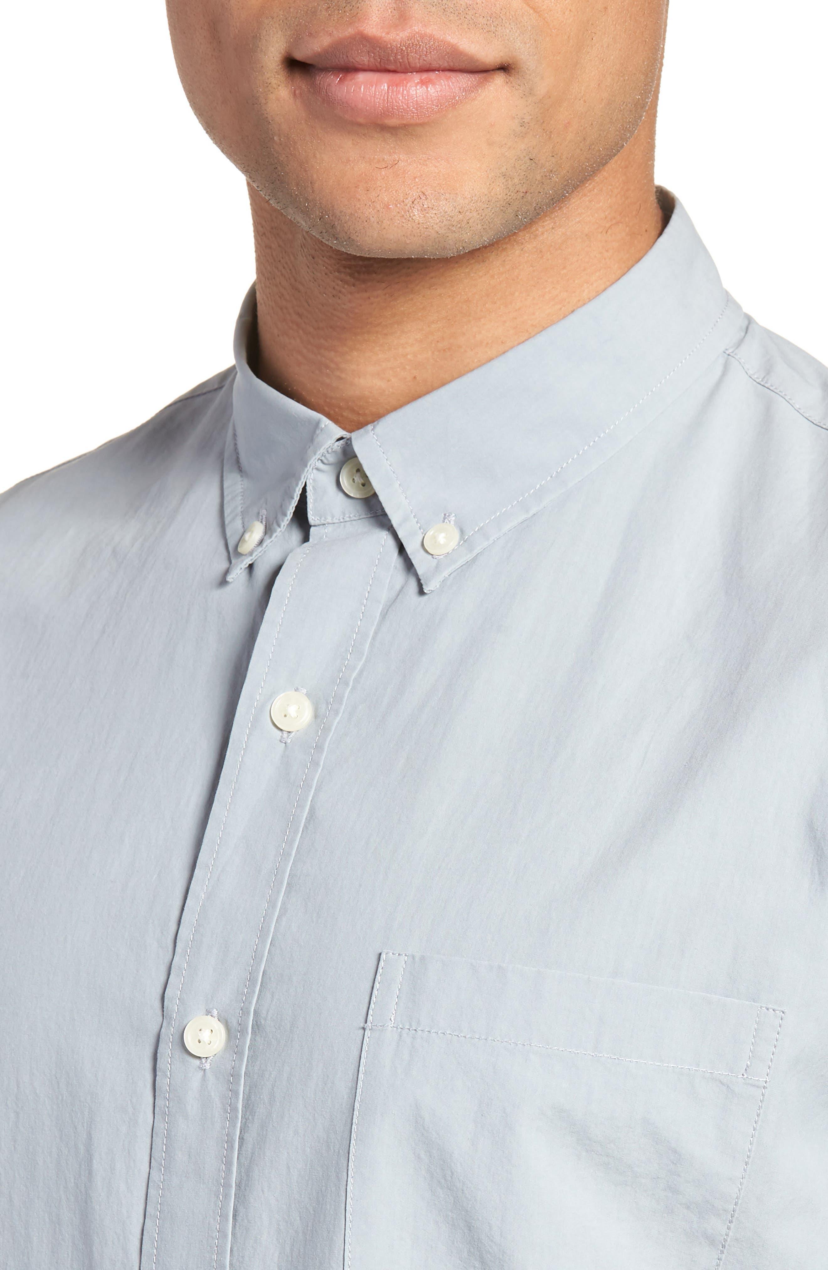 Slim Fit Sport Shirt,                             Alternate thumbnail 4, color,                             STORM