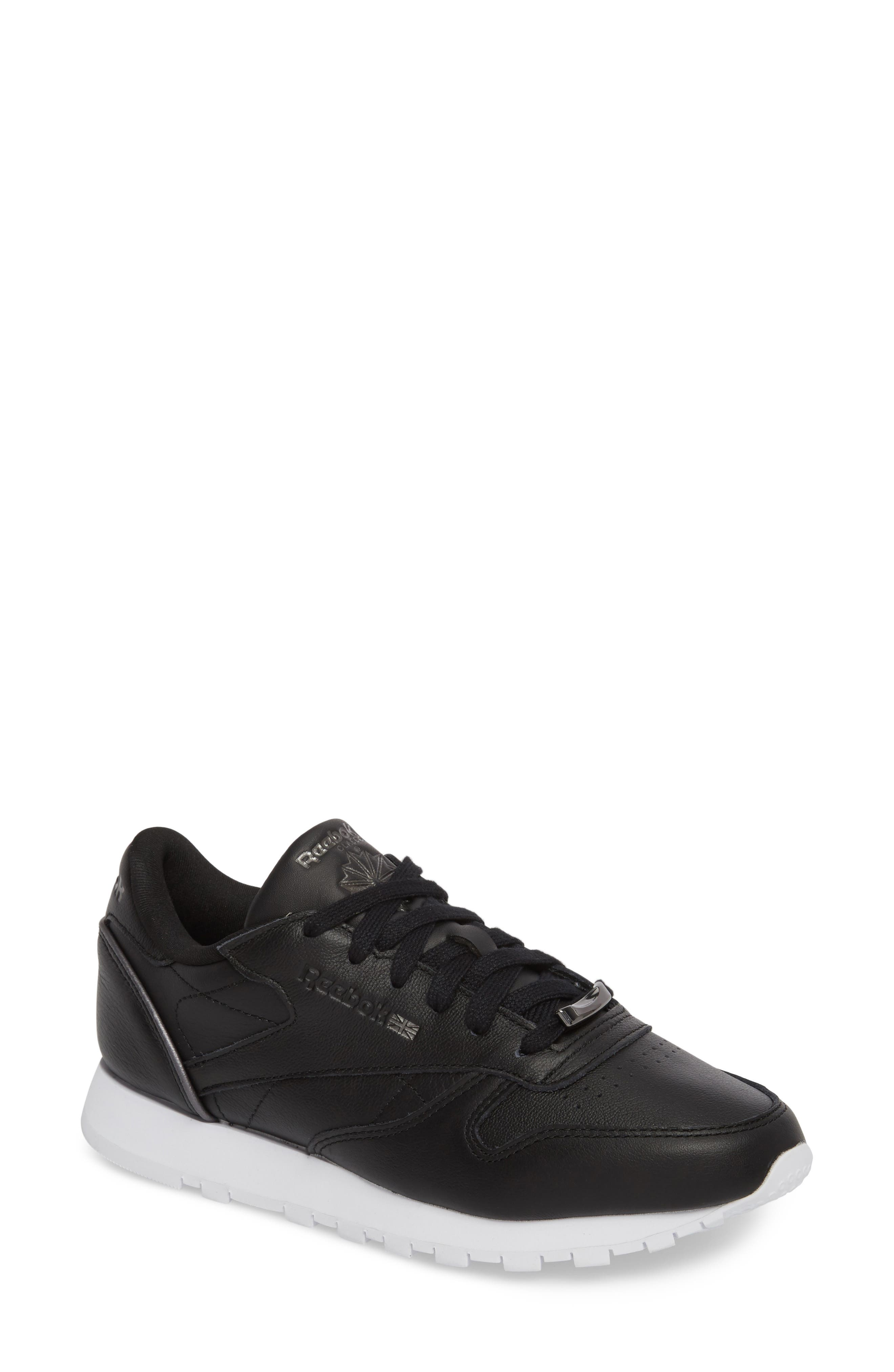 Classic Leather HW Sneaker,                             Main thumbnail 1, color,                             001
