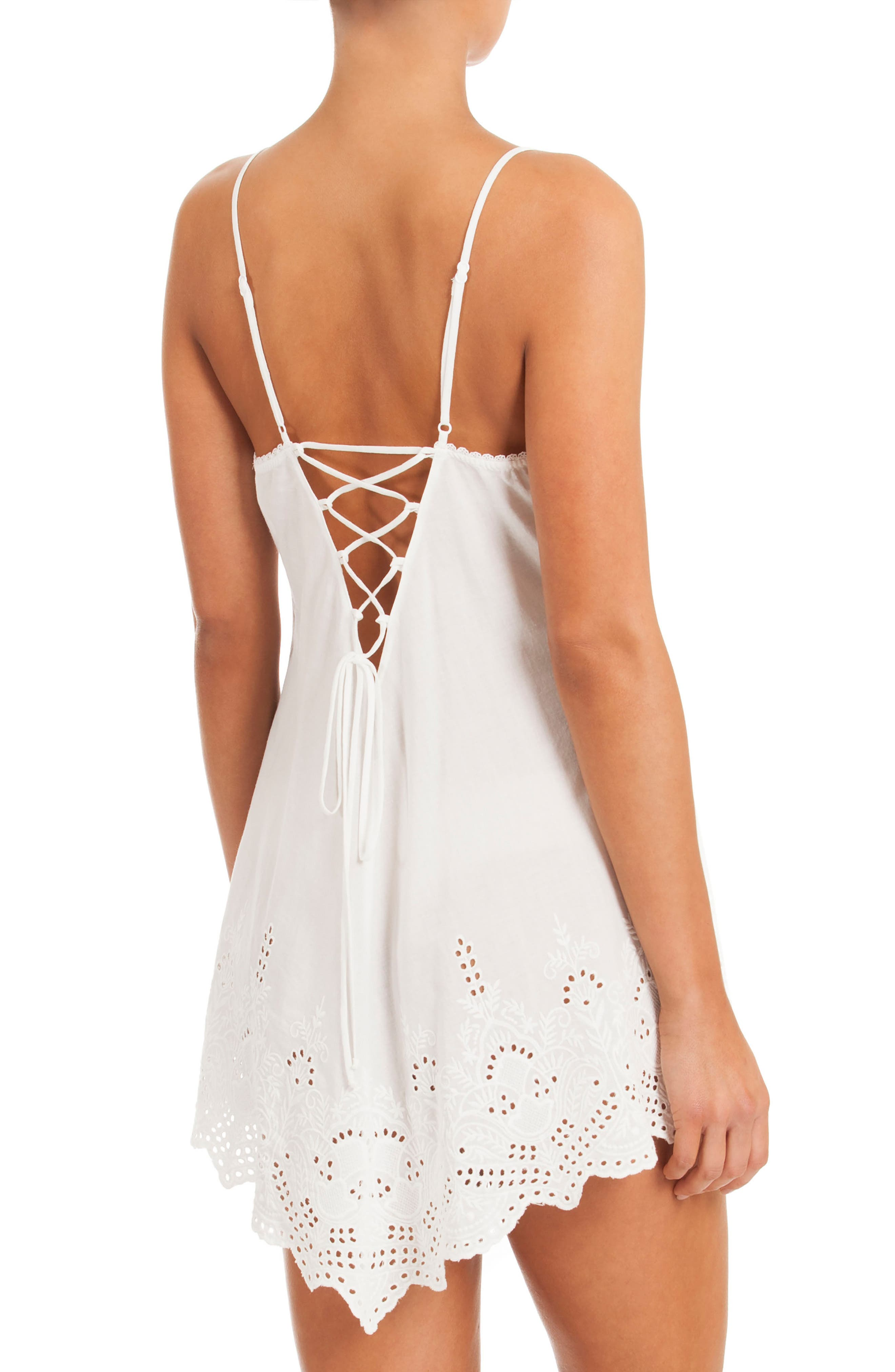 Eyelet Chemise,                             Alternate thumbnail 2, color,                             100