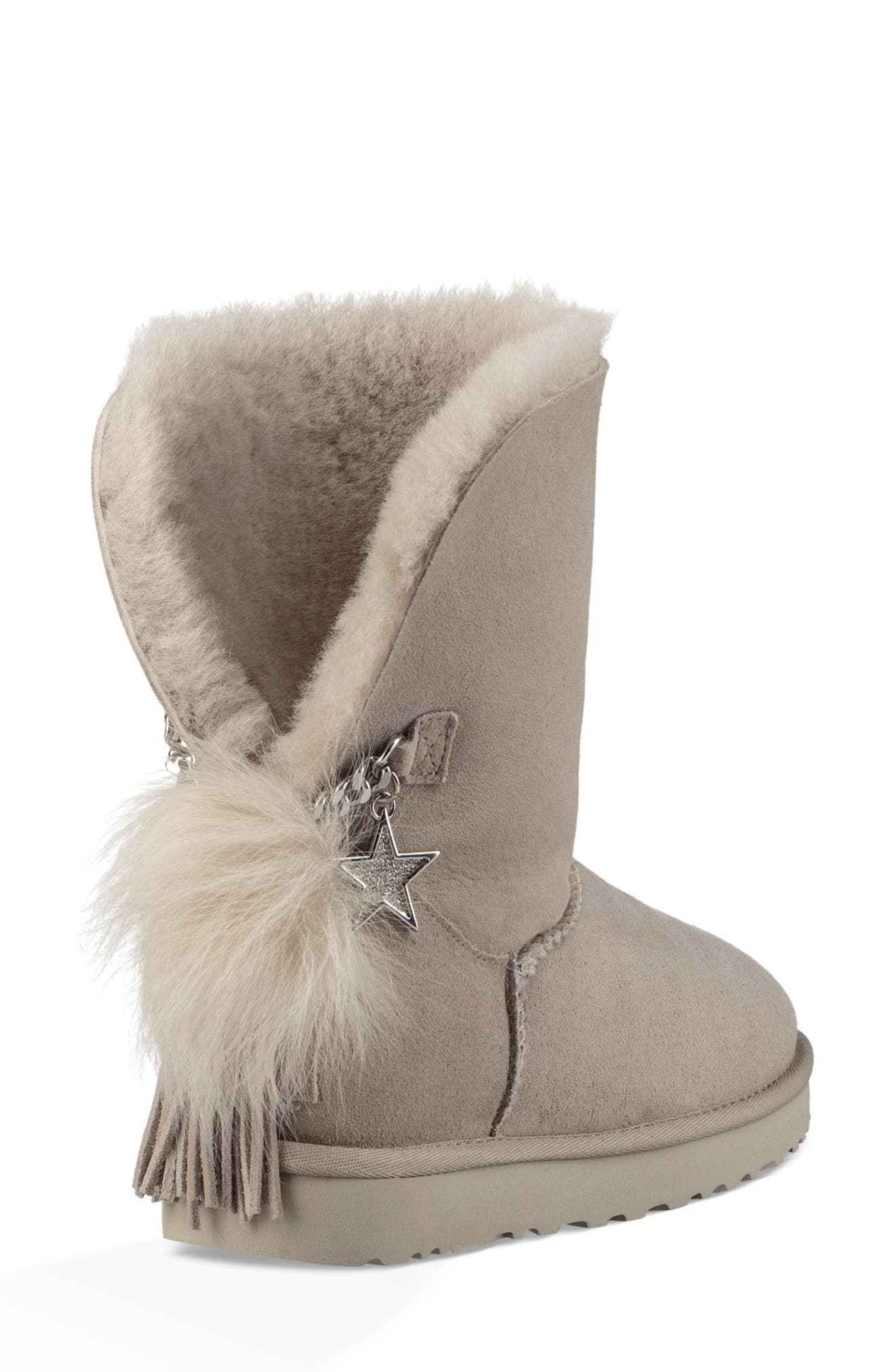 Classic Charm Bootie,                             Alternate thumbnail 2, color,                             WILLOW SUEDE
