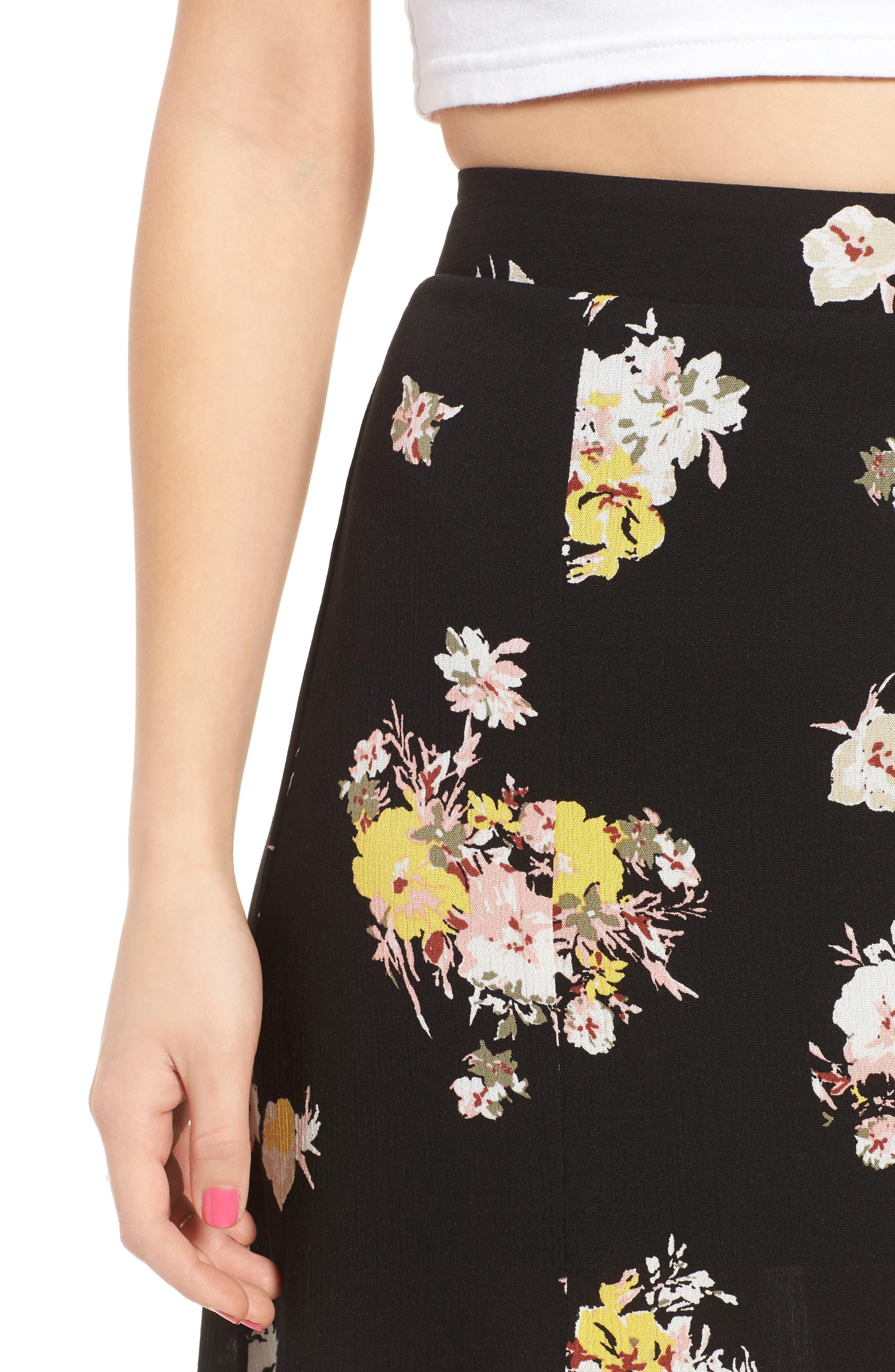 Coordinating Floral Maxi Skirt,                             Alternate thumbnail 4, color,                             002