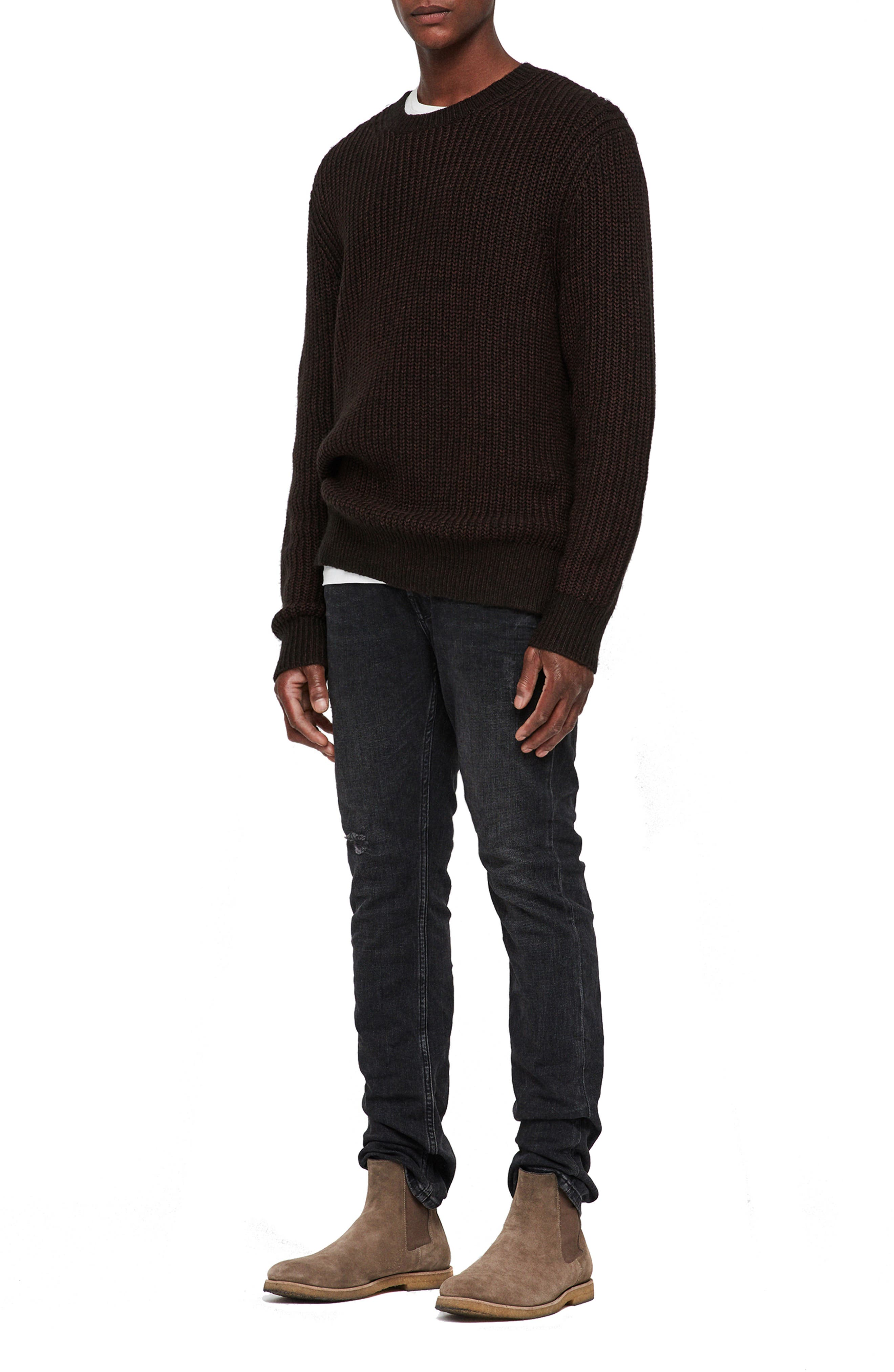 Tilman Regular Fit Sweater,                             Alternate thumbnail 6, color,                             001