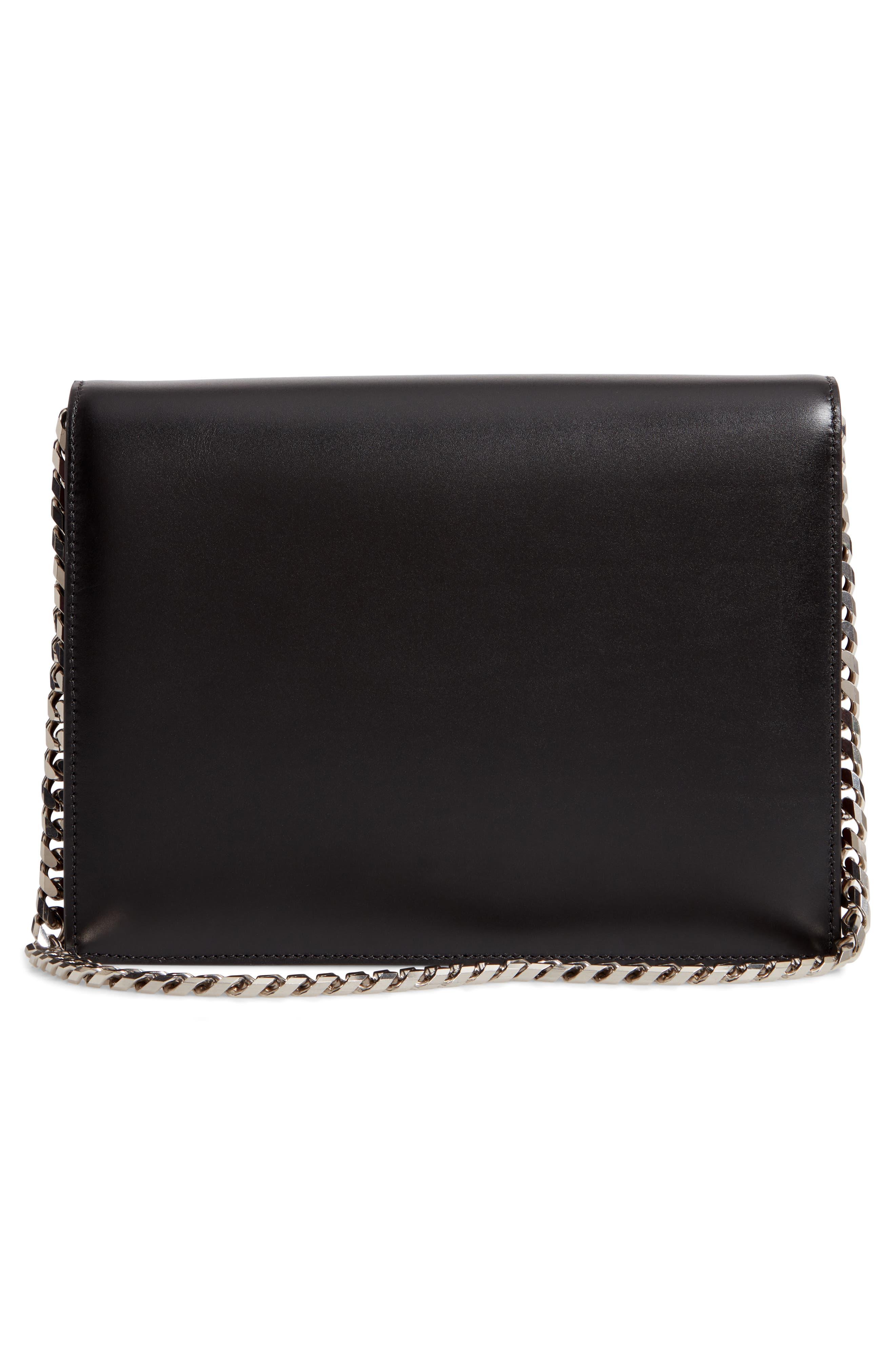 Pin Calfskin Leather Shoulder Bag,                             Alternate thumbnail 3, color,