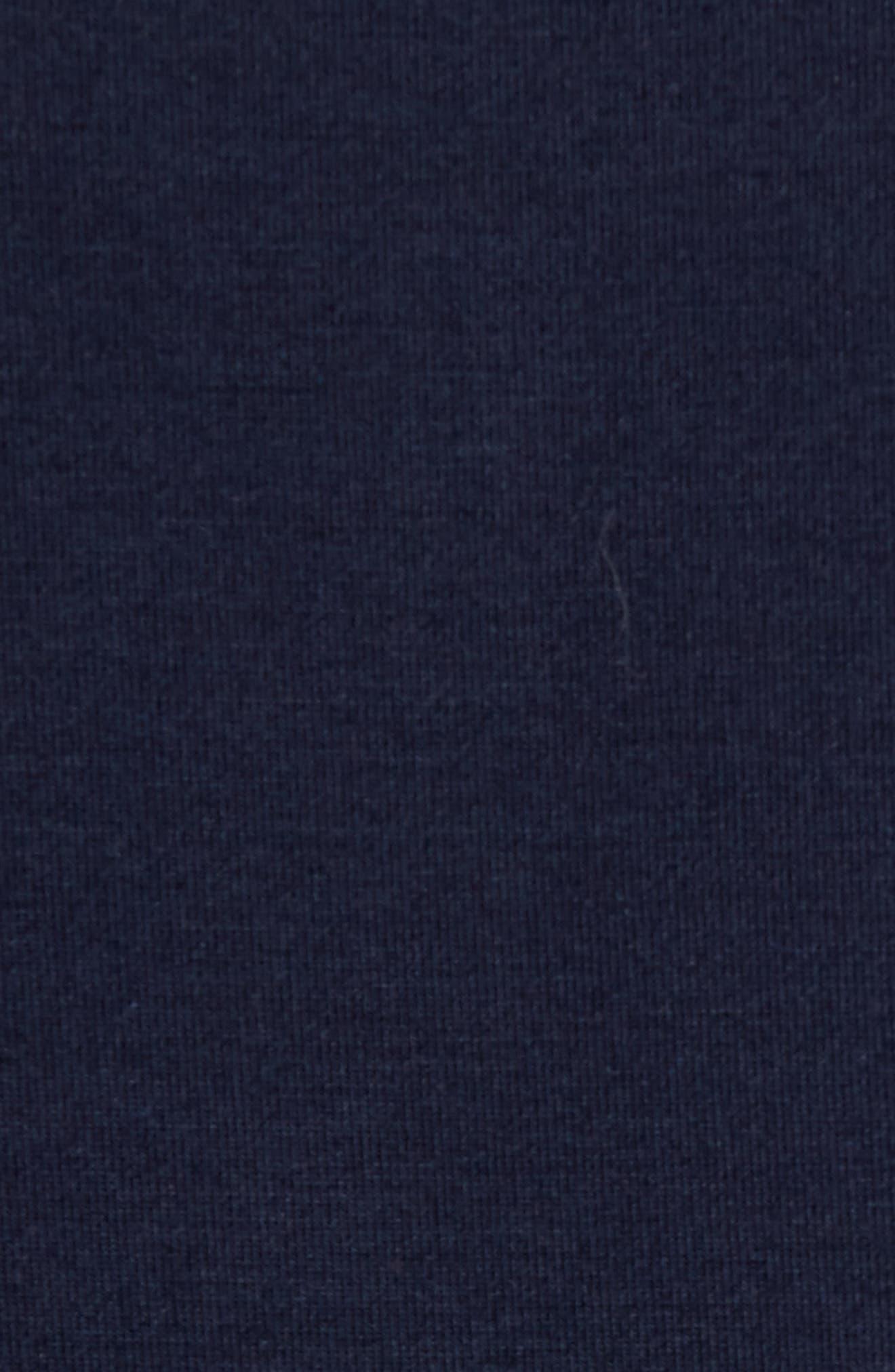 Modal Blend Henley T-shirt,                             Alternate thumbnail 5, color,                             INK